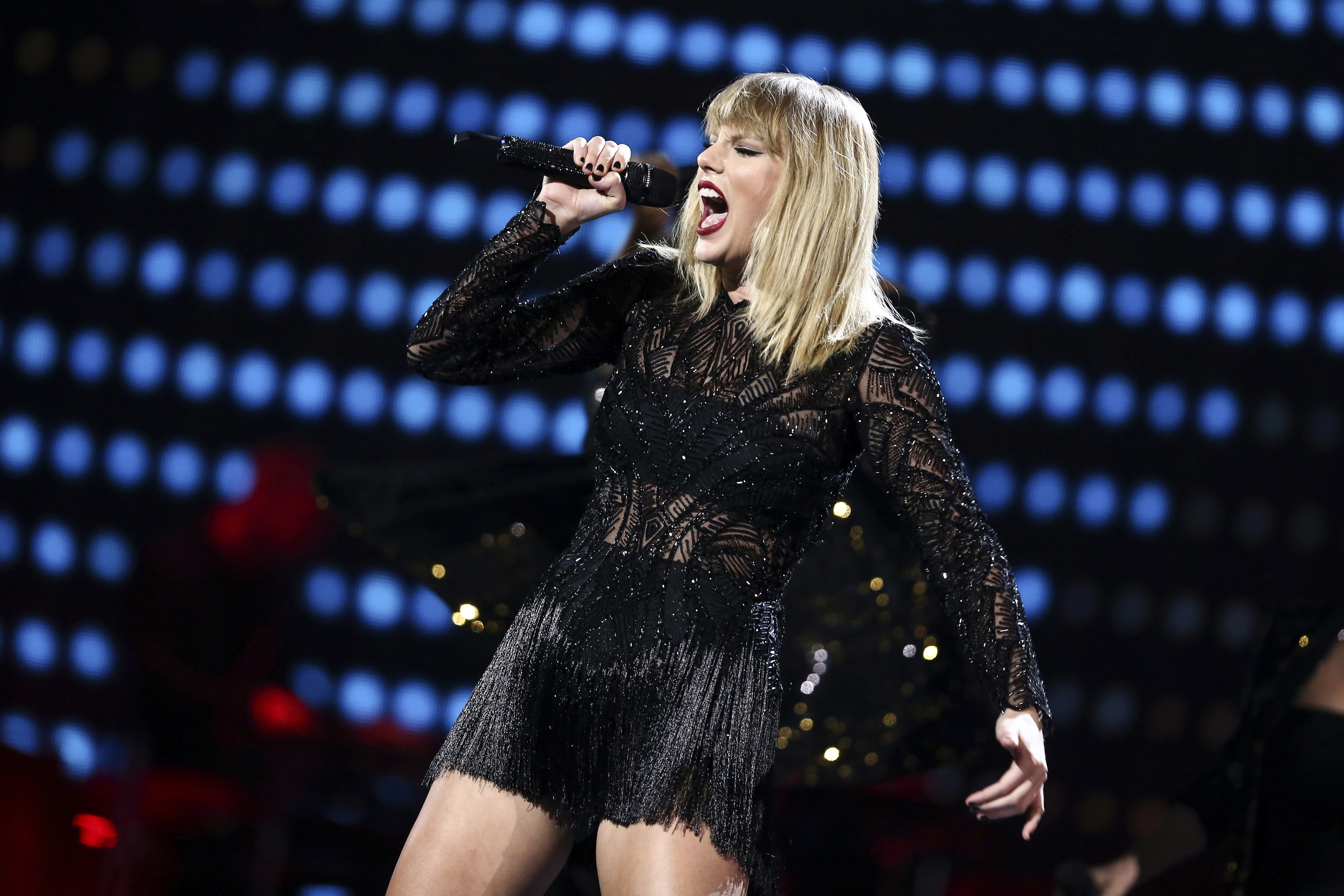 Taylor Swift performs on Feb. 4, 2017 in Houston, Texas.