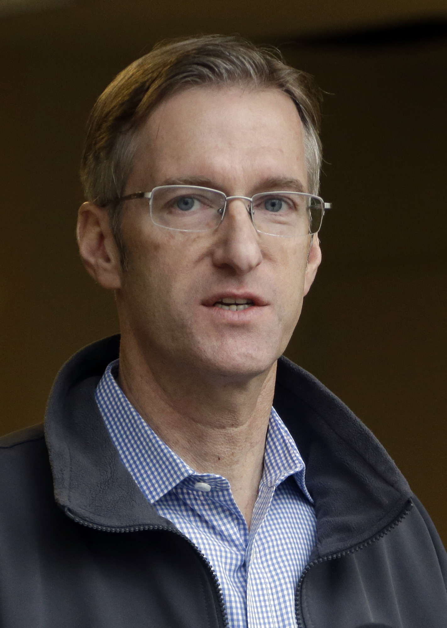 Portland Mayor Ted Wheeler speaks during a press conference in Portland, Ore. on Jan. 17, 2017 .