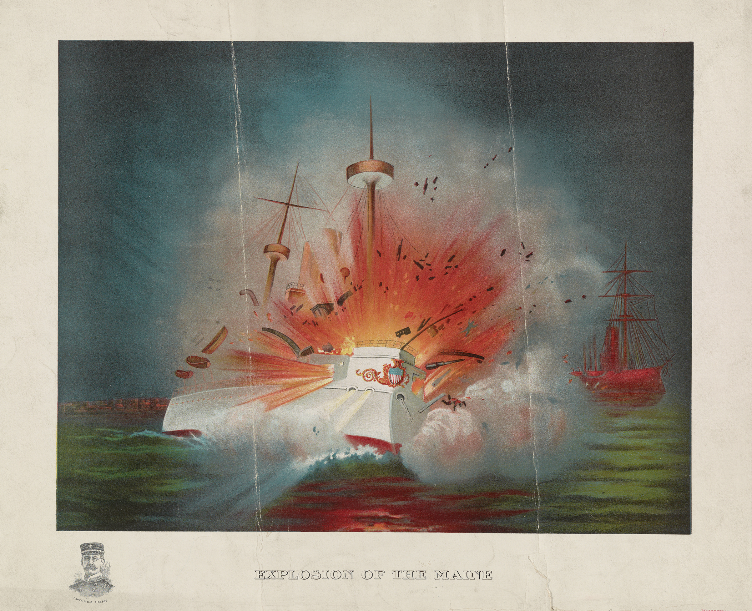 Explosion of the Maine, 1898.