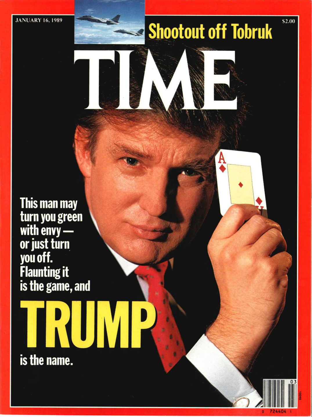 First TIME cover of Donald Trump from Jan. 16, 1989