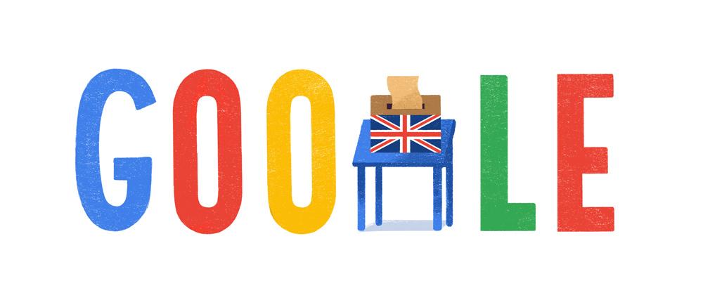 U.K. general election Google Doodle.