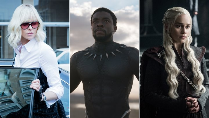 From left: Atomic Blonde, Black Panther, Game of Thrones