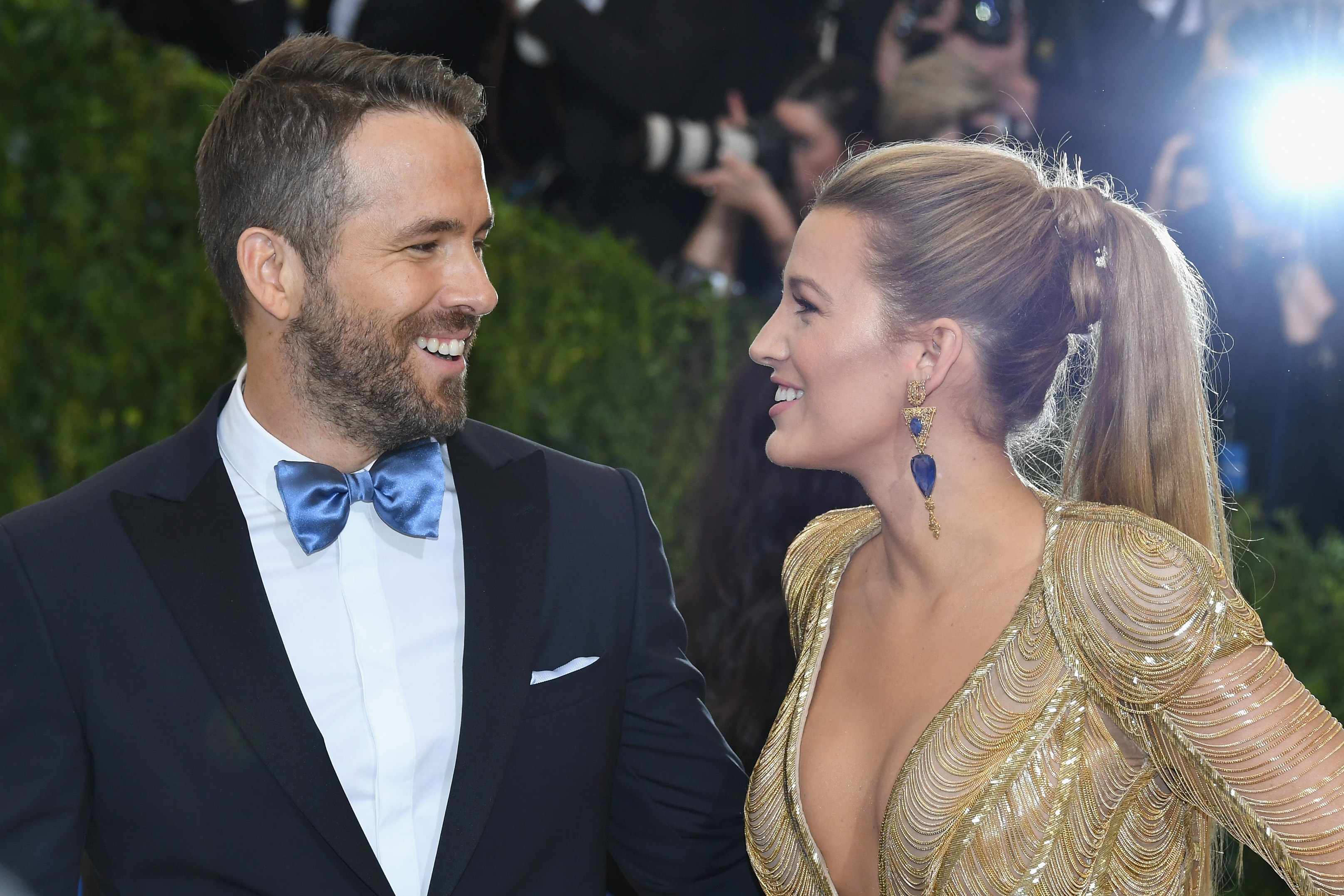 NEW YORK, NY - MAY 01:  Ryan Reynolds (L) and Blake Lively attend the  Rei Kawakubo/Comme des Garcons: Art Of The In-Between  Costume Institute Gala at Metropolitan Museum of Art on May 1, 2017 in New York City.  (Photo by Dia Dipasupil/Getty Images For Entertainment Weekly)