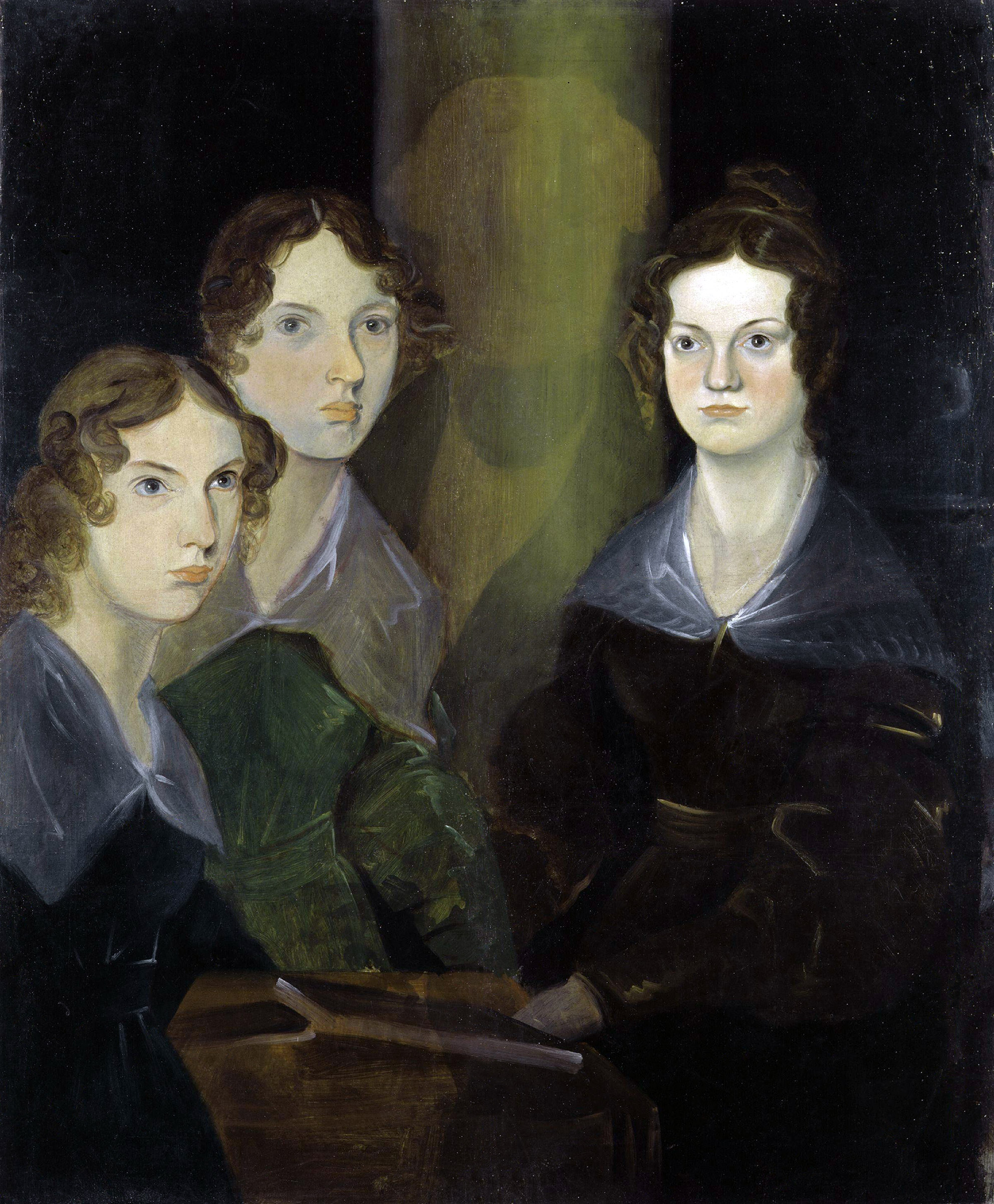 The Bronte sisters, writers, painted by their brother Patrick Branwell Bronte, circa 1834.