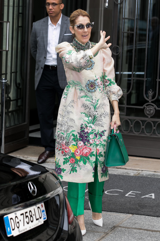 Singer Celine Dion is seen on July 2, 2017 in Paris, France.