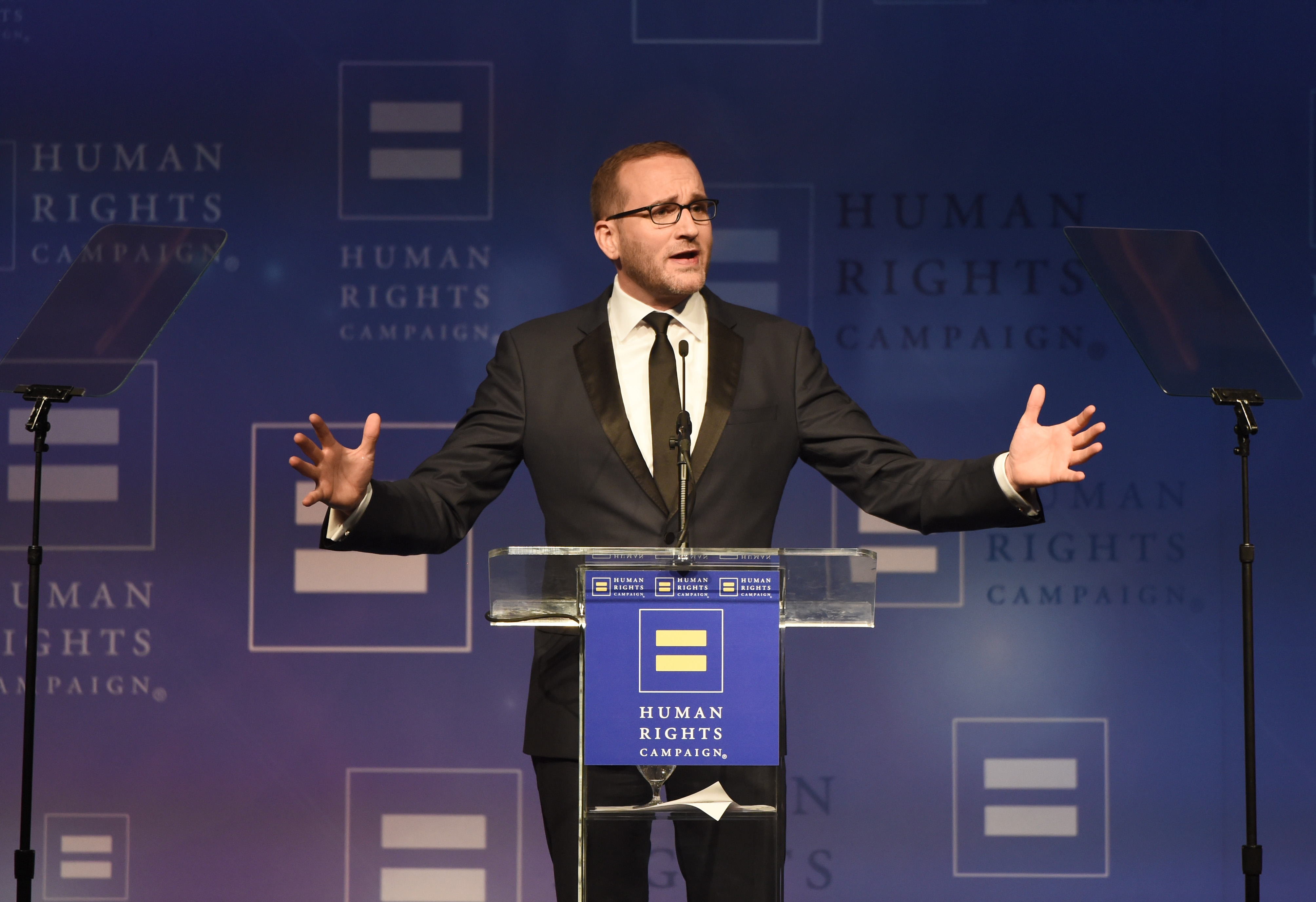 Human Rights Campaign President Chad Griffin speaks onstage at The Human Rights Campaign 2017 Los Angeles Gala Dinner at JW Marriott Los Angeles at L.A. LIVE on March 18, 2017 in Los Angeles.
