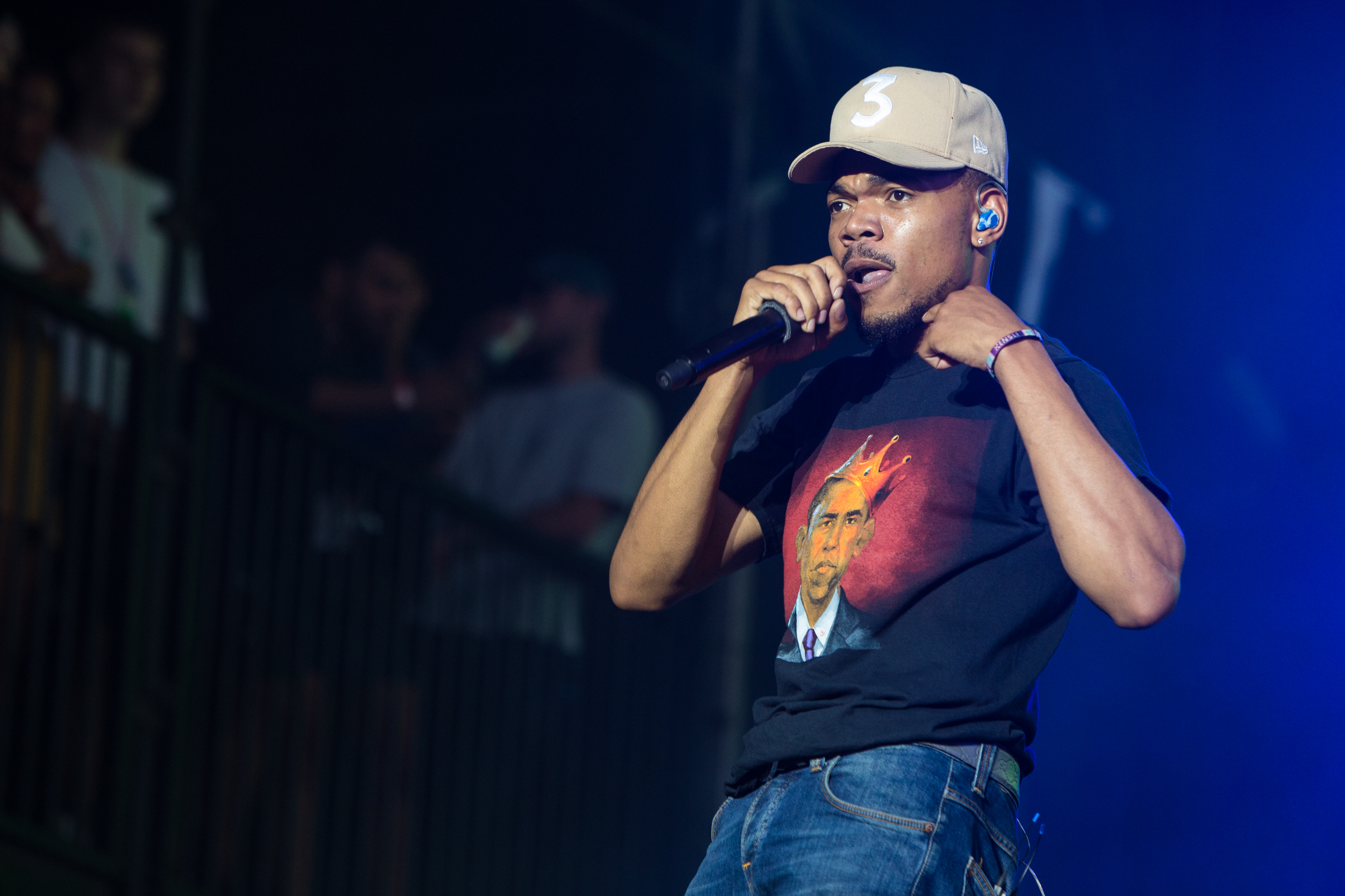 LONDON, ENGLAND - JULY 07:  Chance The Rapper performs at Wireless Festival Day 1 at Finsbury Park on July 7, 2017 in London, England.  (Photo by Lorne Thomson/Getty Images)