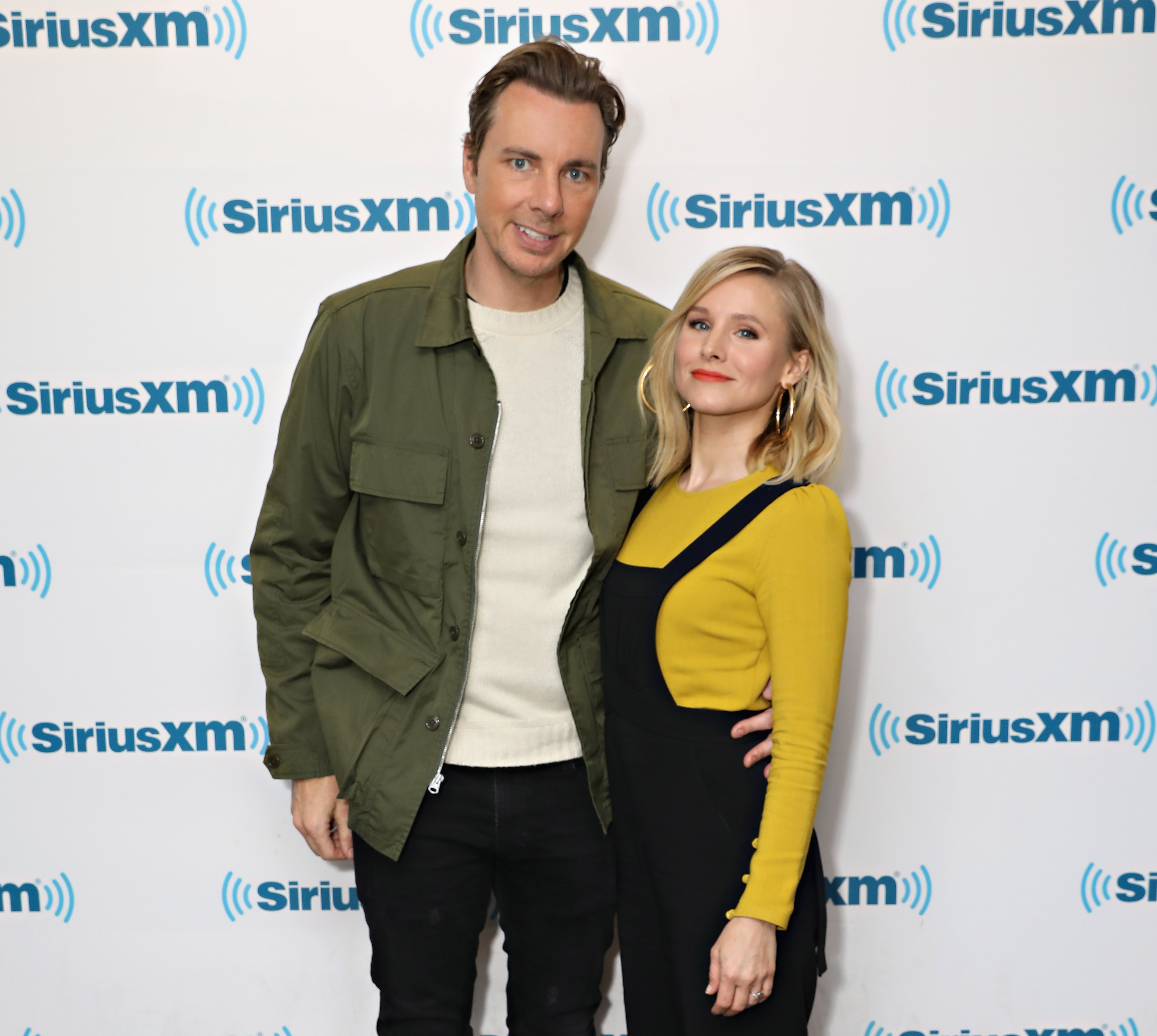 Actors Dax Shepard and Kristen Bell visit the SiriusXM Studios on March 22, 2017 in New York City.