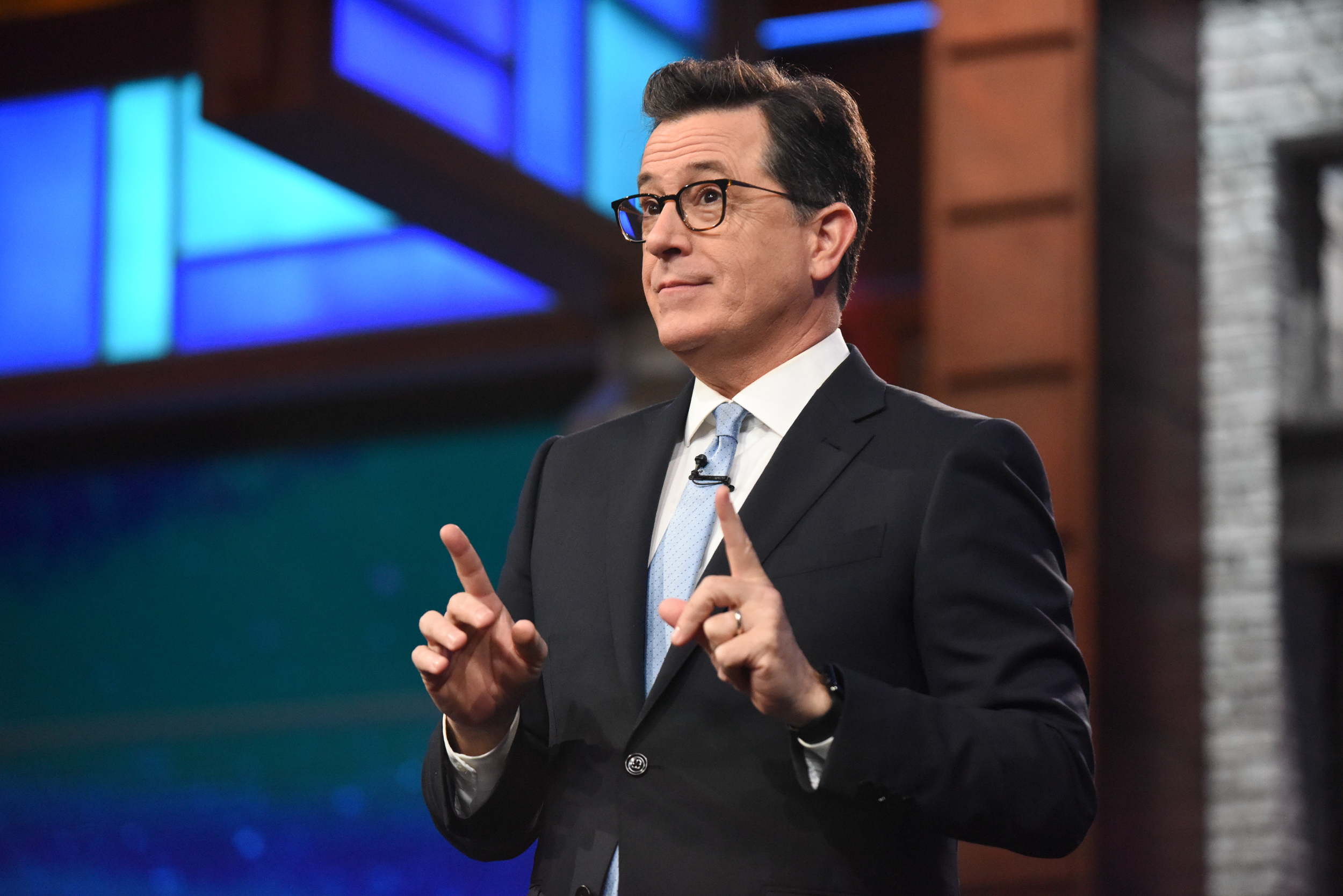 The Late Show with Stephen Colbert during  a June 8, 2017 show.