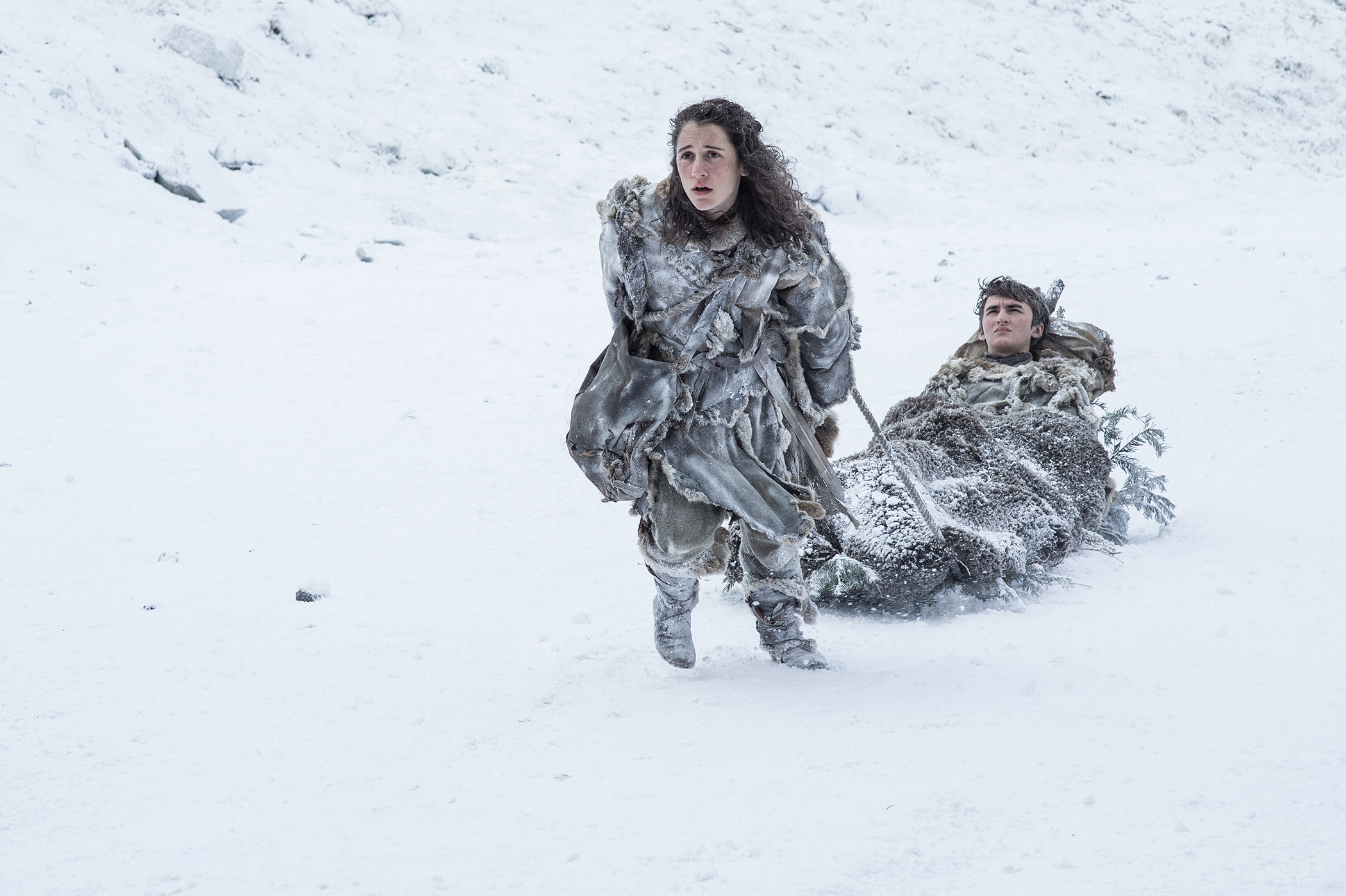 Ellie Kendrick and Isaac Hempstead Wright in Game of Thrones