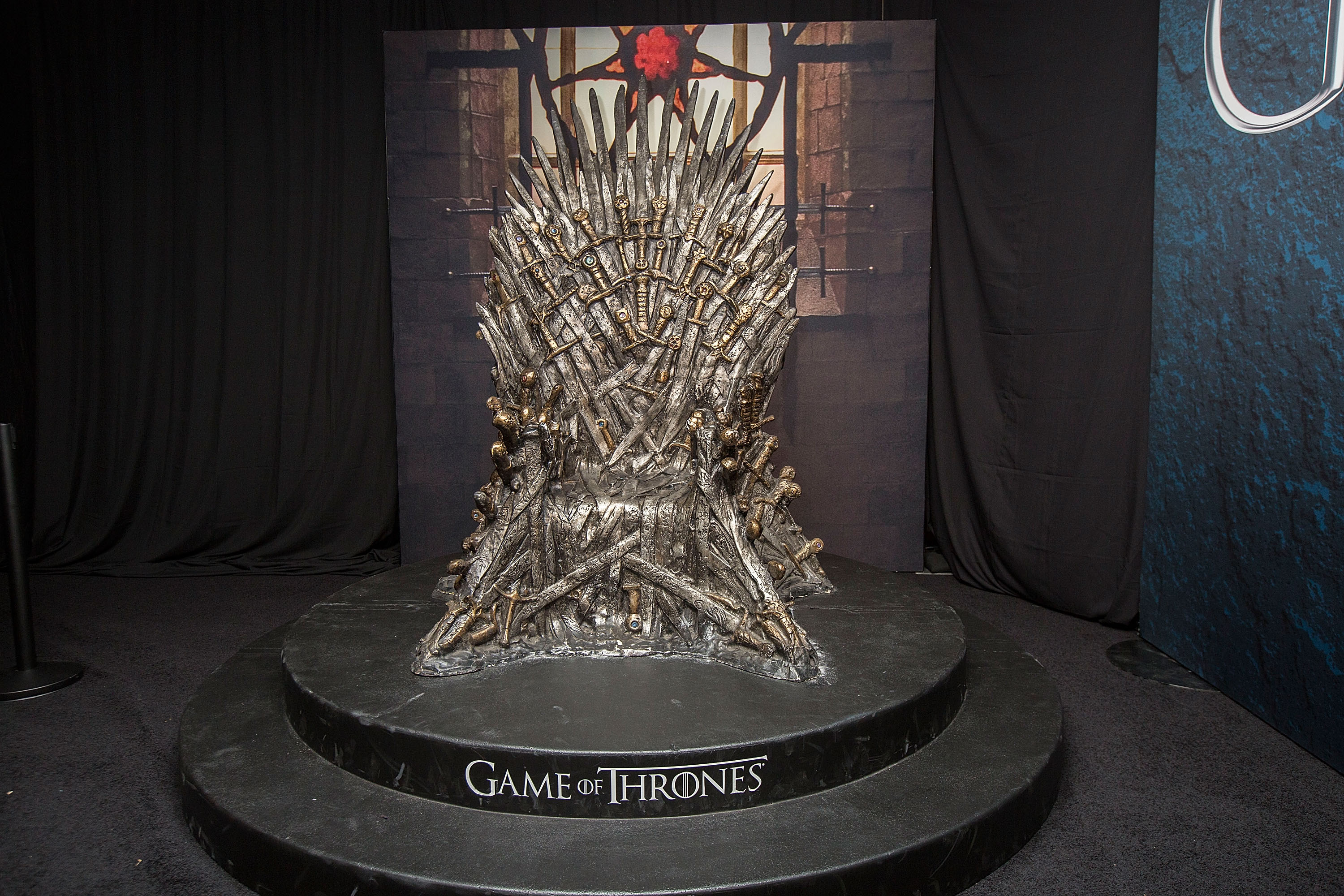 The Iron Throne display at the Hall of Faces presented by the HBO hit series  Game of Thrones  at Comic-Con International - Day 3 on July 22, 2016 in San Diego, California.
