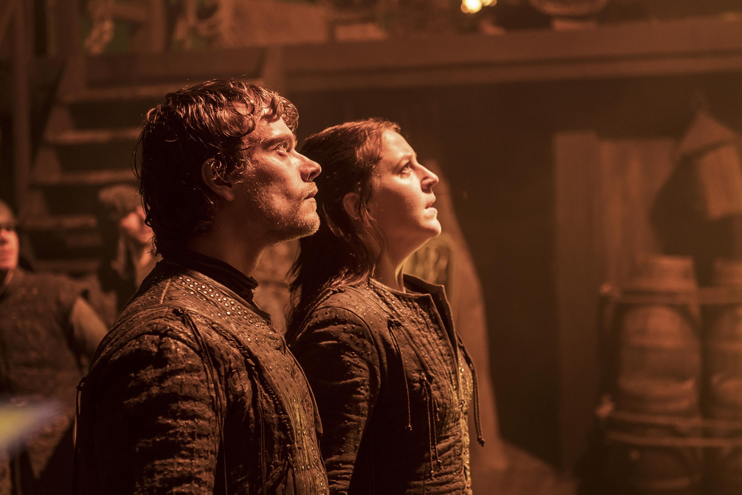 Alfie Allen and Gemma Whelan in Game of Thrones