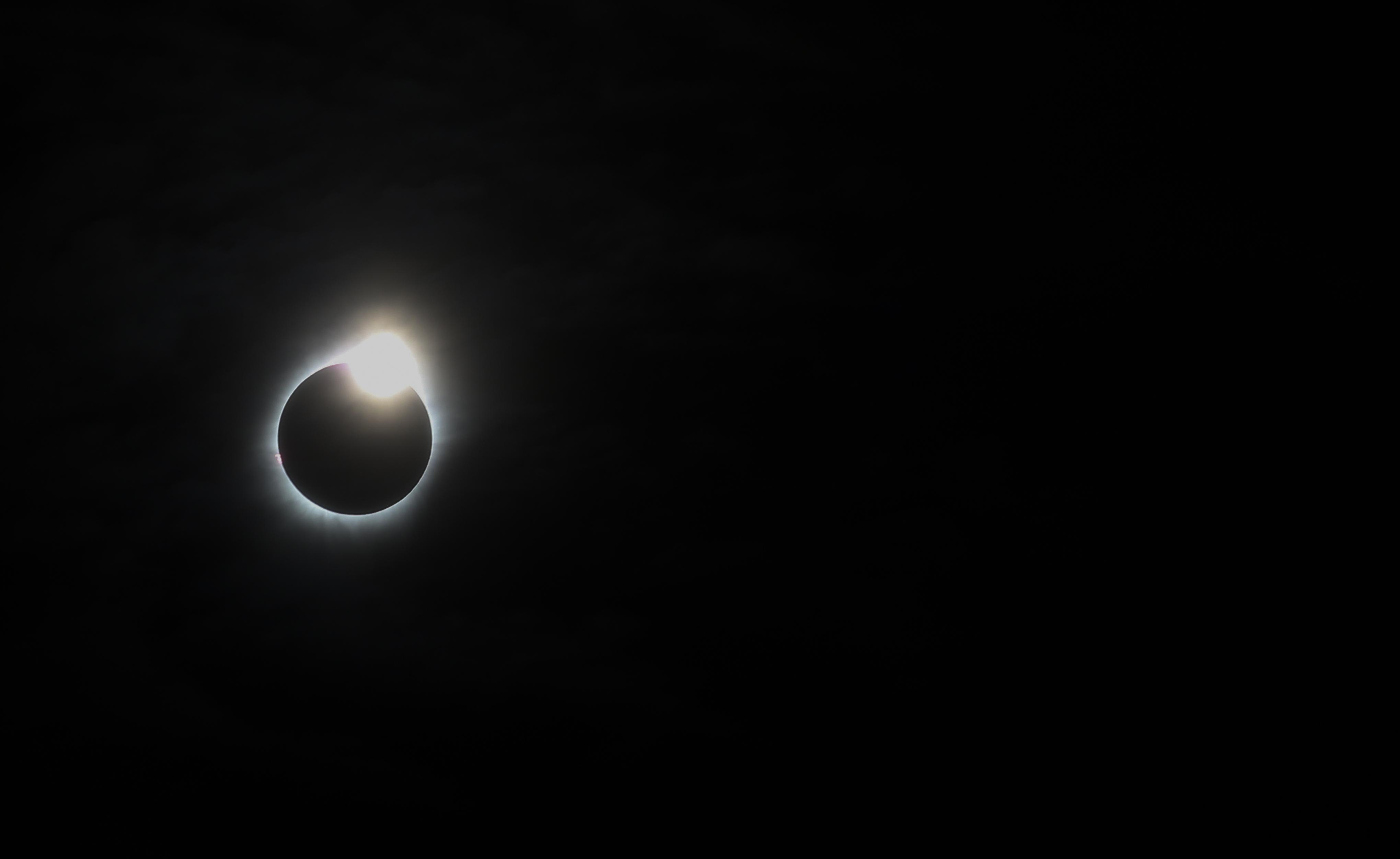 Belitung, Bangka Belitung Province, Indonesia's solar eclipse.