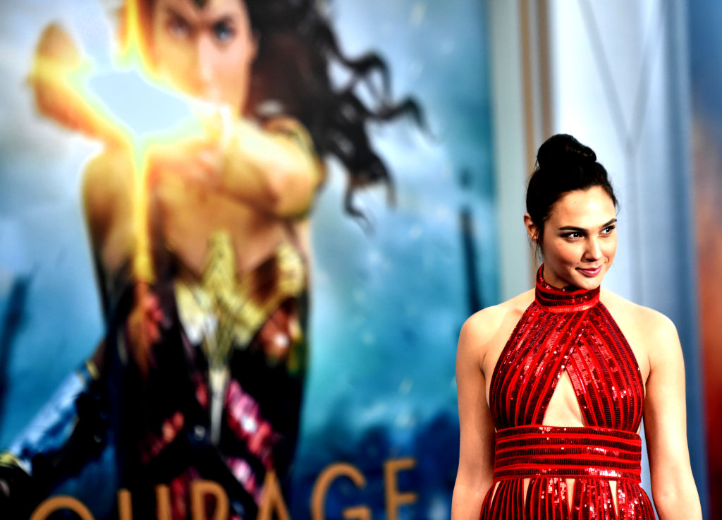 Actress Gal Gadot at the Premiere Of Warner Bros.  Wonder Woman  at the Pantages Theatre on May 25, 2017 in Hollywood, California.