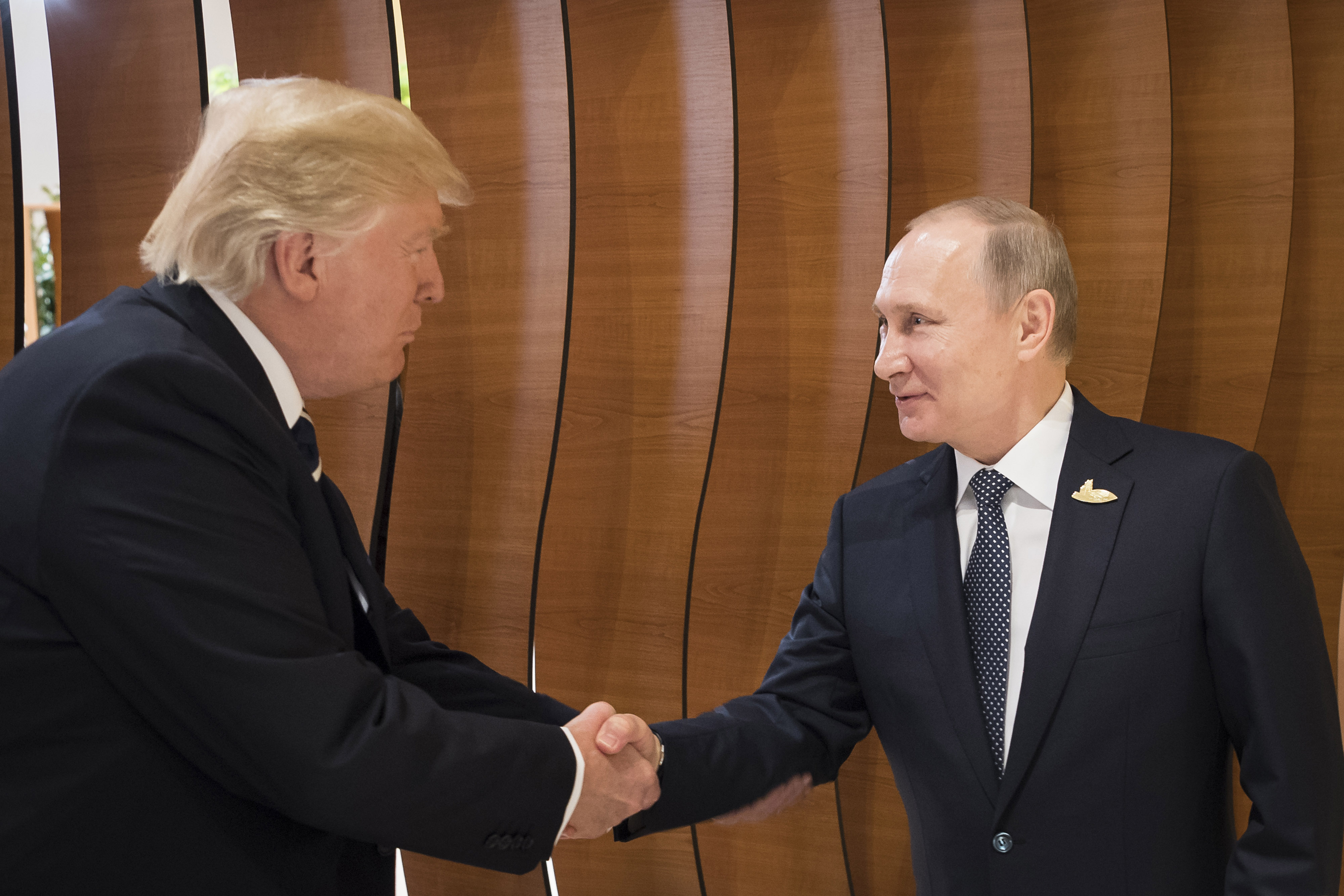 G20 President Donald Trump Handshake With Vladimir Putin Time