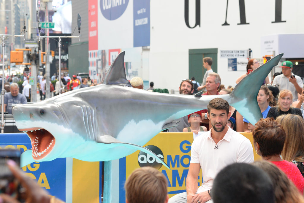 Michael Phelps is seen outside 'Good Morning America' on July 20, 2017 in New York City.