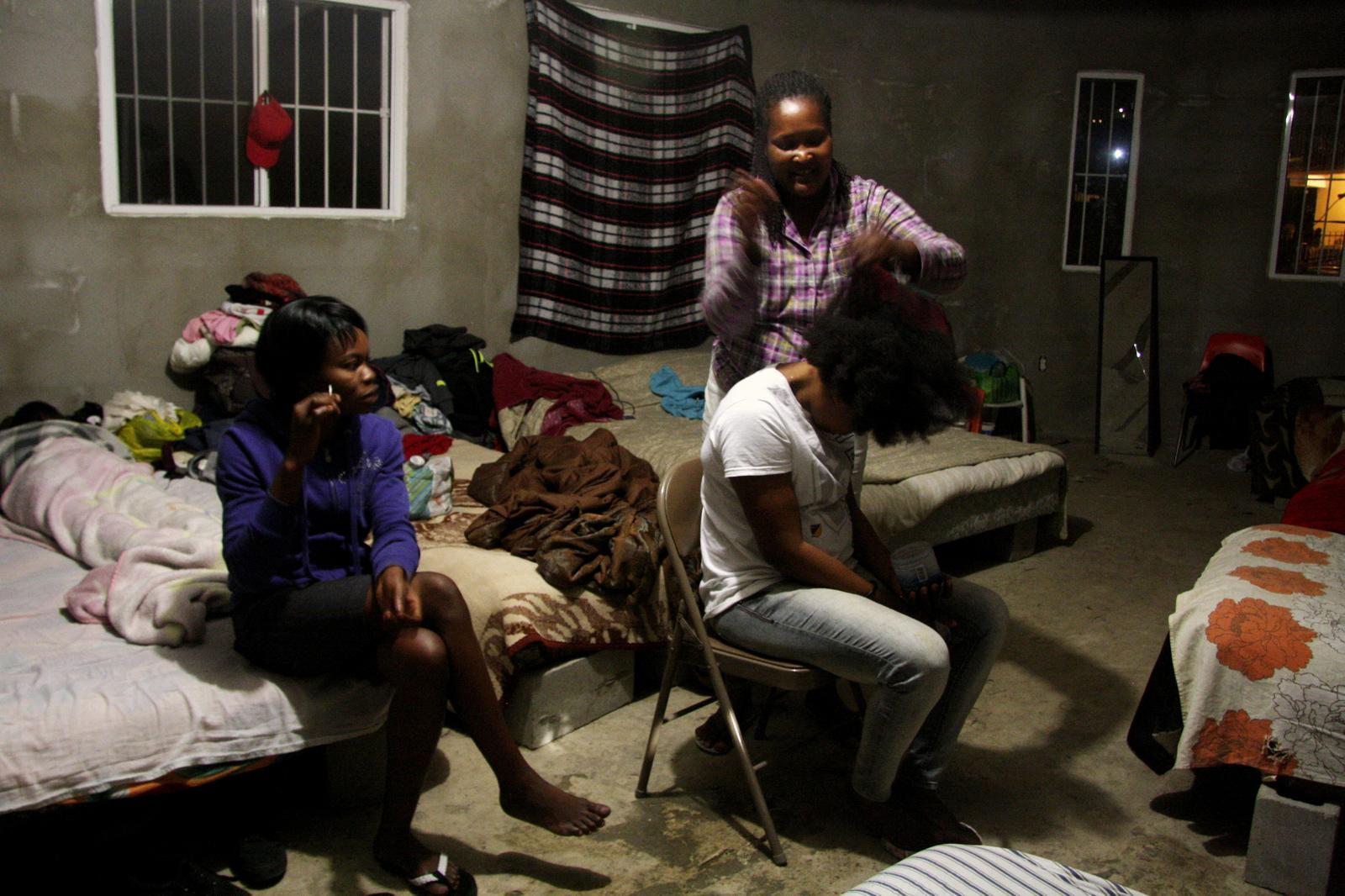 Haitian refugees at a shelter in Tijuana, Mexico. Benjamin Preston—The Drive