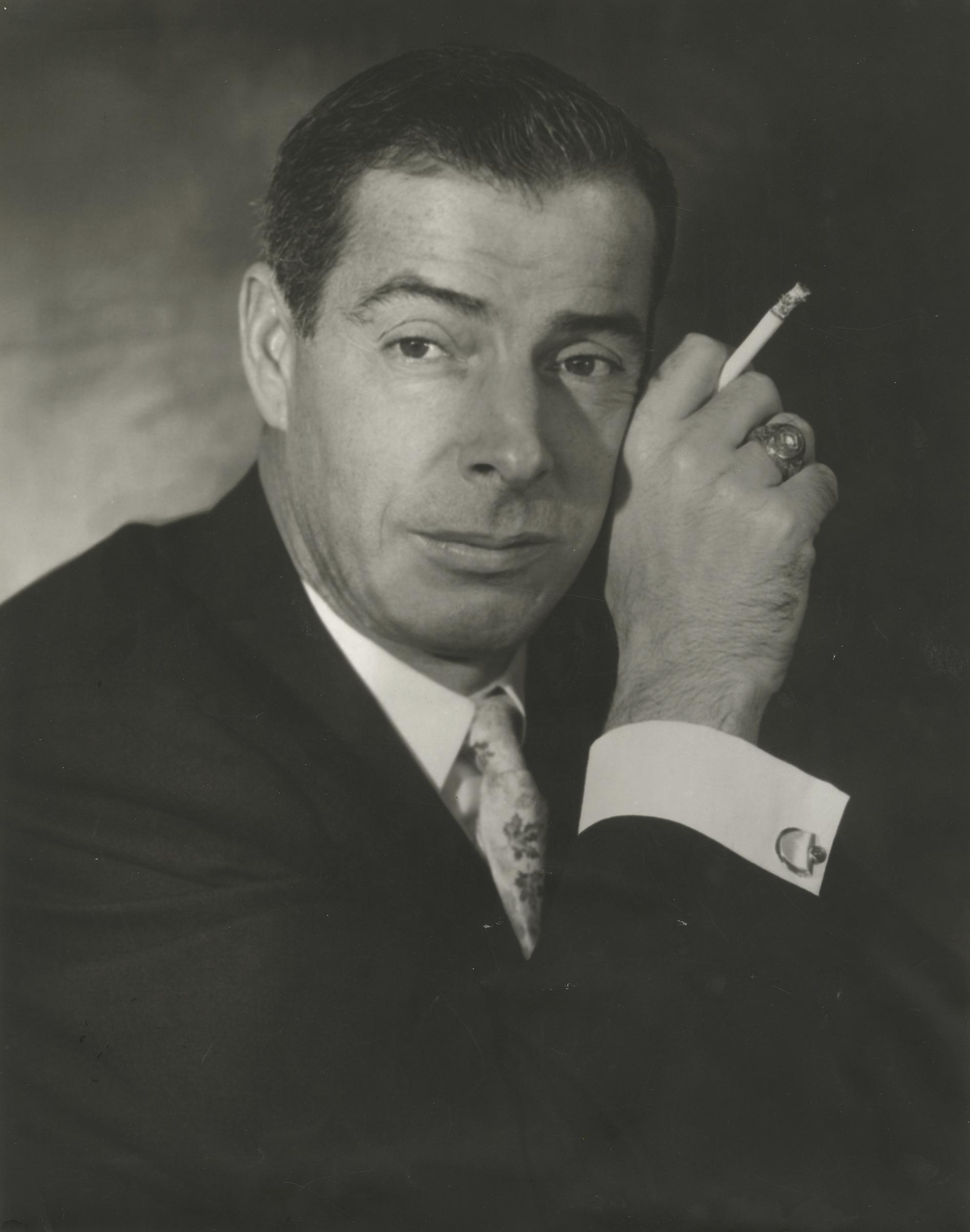Joe DiMaggio, 1955. Gelatin silver print. New-York Historical Society, Gift of Kenneth Sherman.