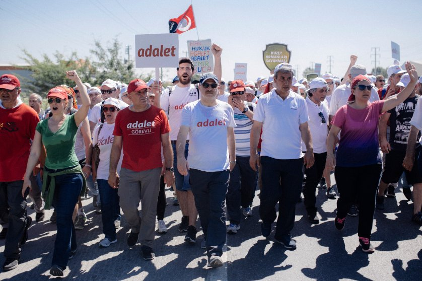 TURKEY, Sakarya, People walk and shout slogans during Justice March. 2017