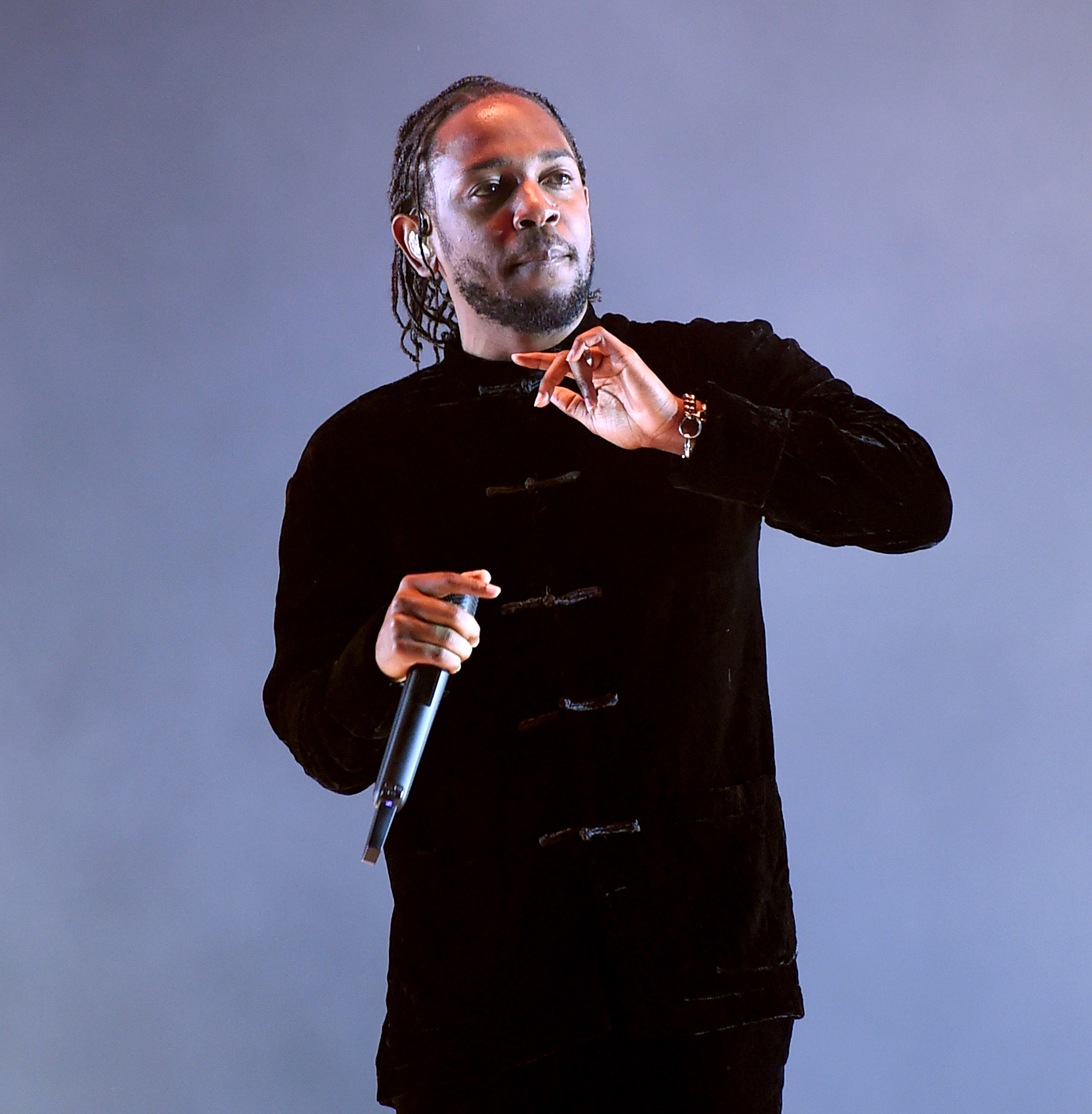 Kendrick Lamar performs on the Coachella Stage during day 3 (Weekend 2) of the Coachella Valley Music And Arts Festival on April 23, 2017 in Indio, California.