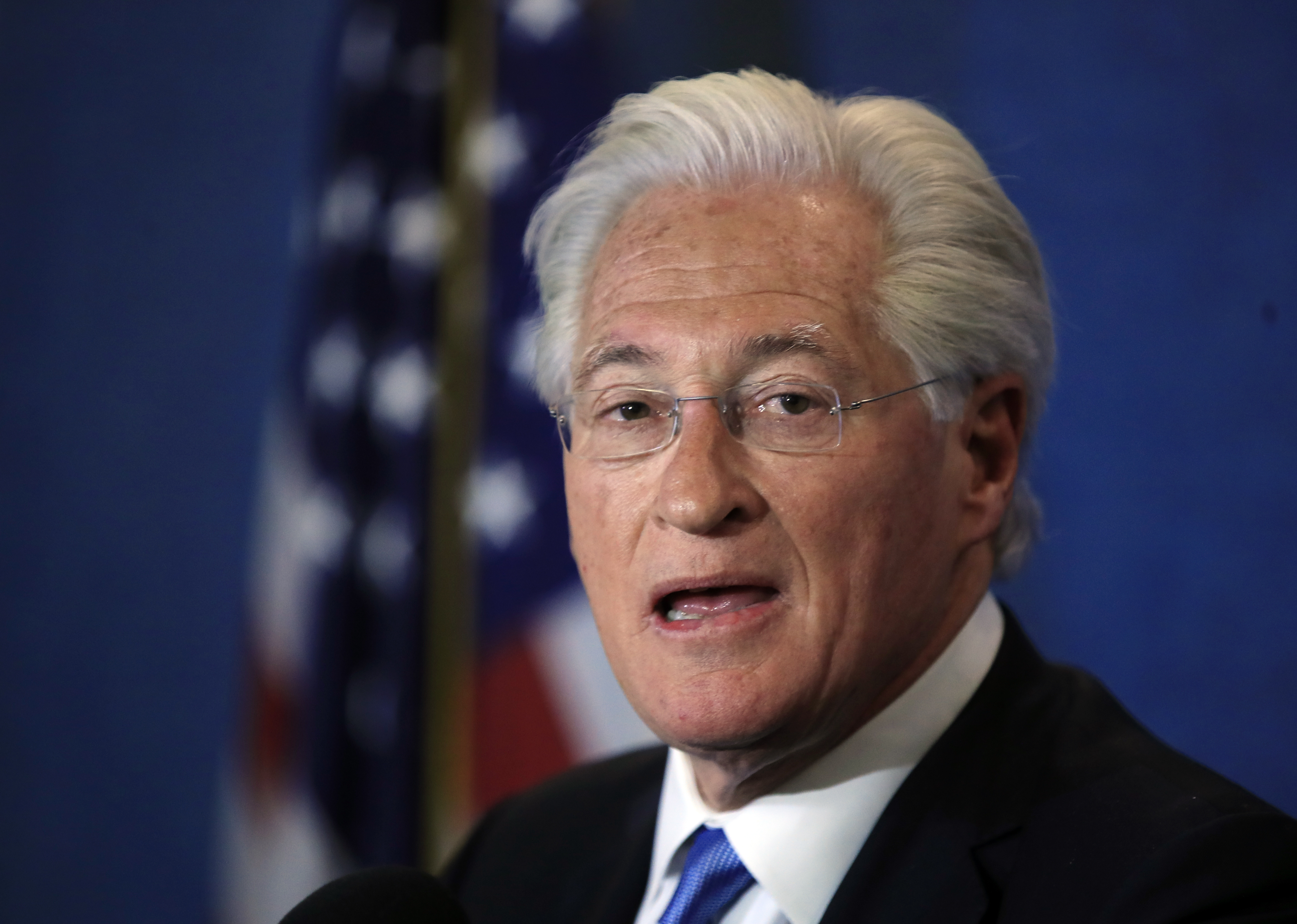 Marc Kasowitz personal attorney of President Donald Trump makes a statement at the National Press Club, following the congressional testimony of former FBI Director James Comey in Washington, June 8, 2017. (AP)