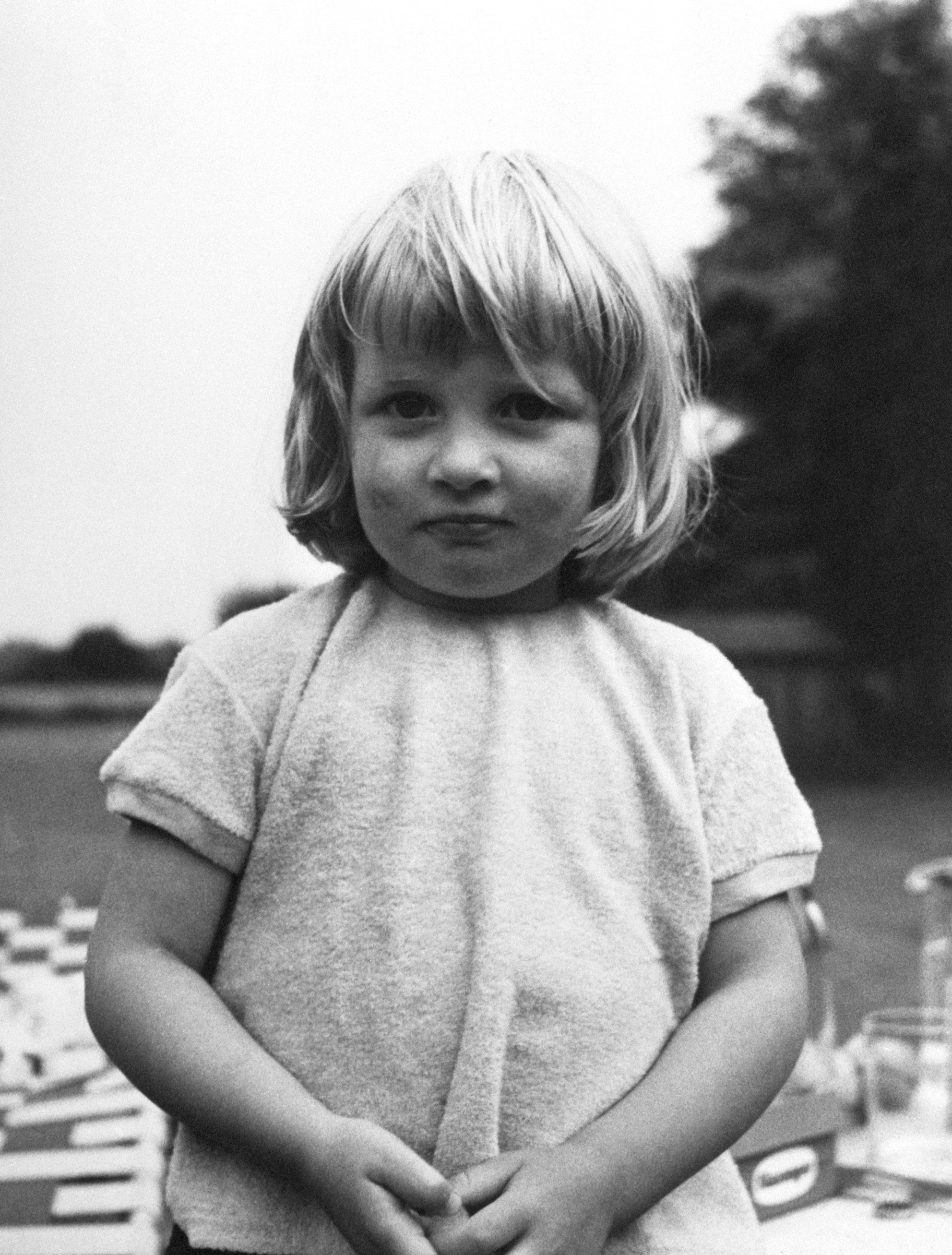 Lady Diana Spencer ages 3 years old at Park House, Sandringham, Norfolk.