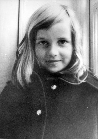 Princess Diana as a young girl.