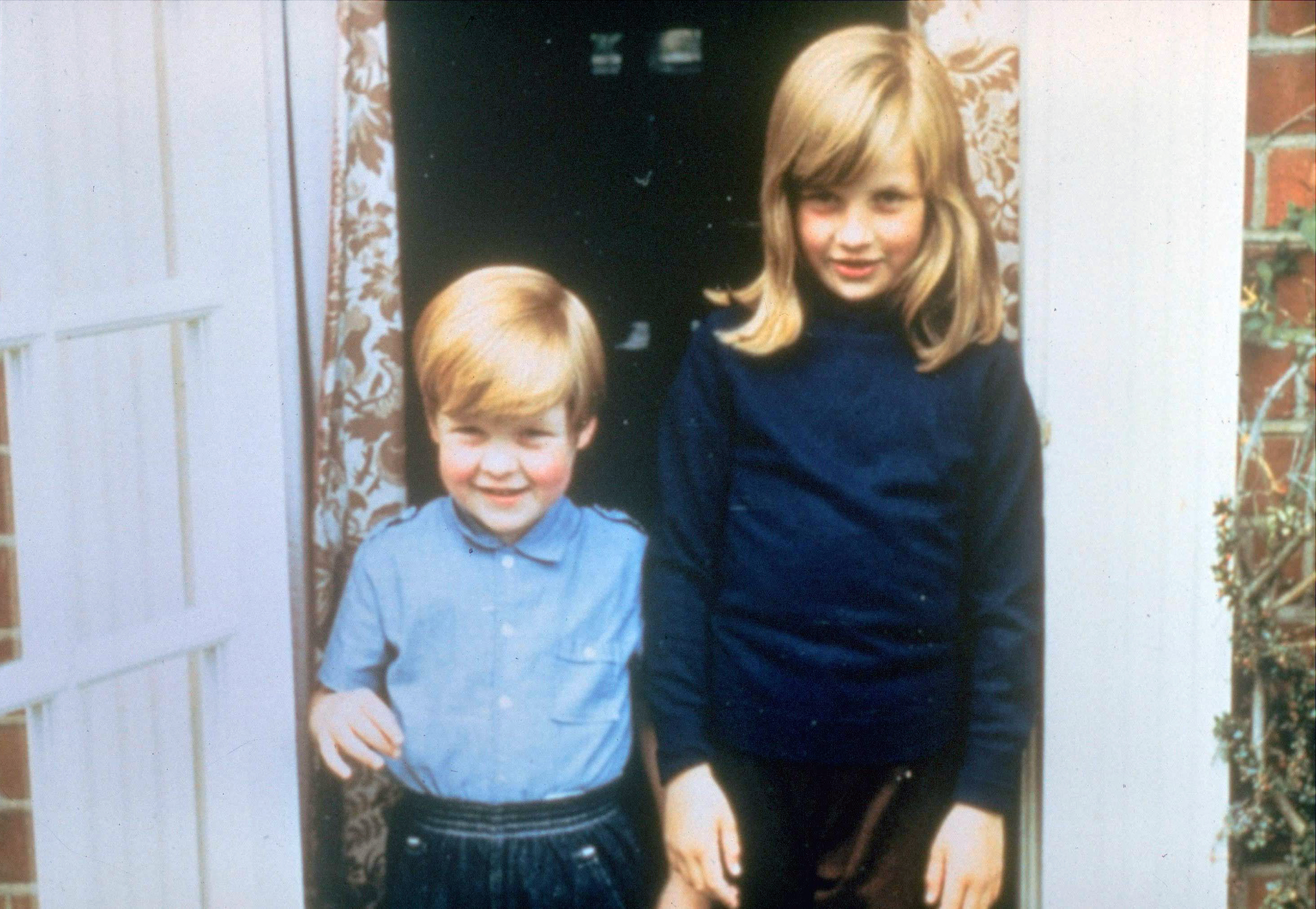Lady Diana Spencer with her brother Charles, Viscount Althorp, (Earl Spencer) at their home in Berkshire.
