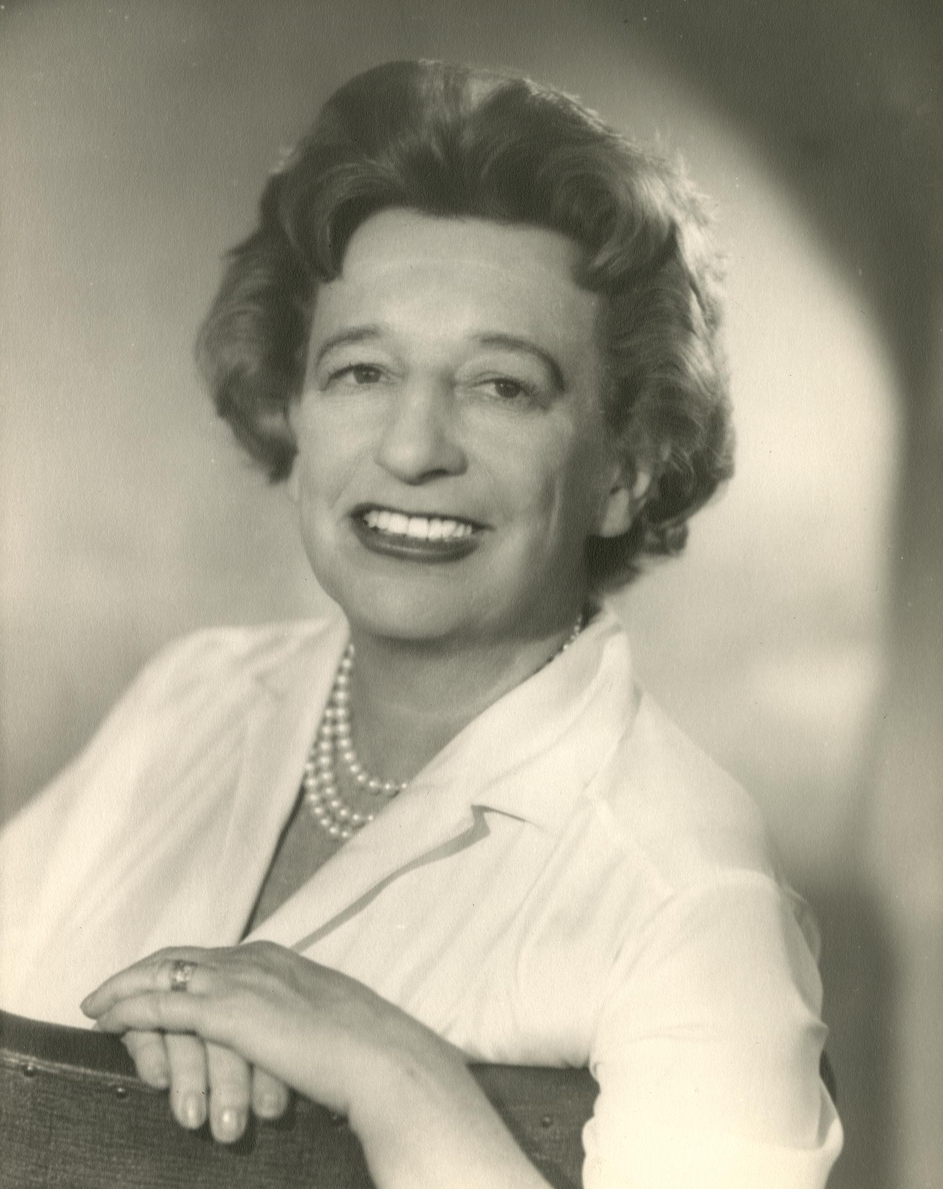 Lillian Hellman, 1961. Gelatin silver print. New-York Historical Society, Gift of Kenneth Sherman.