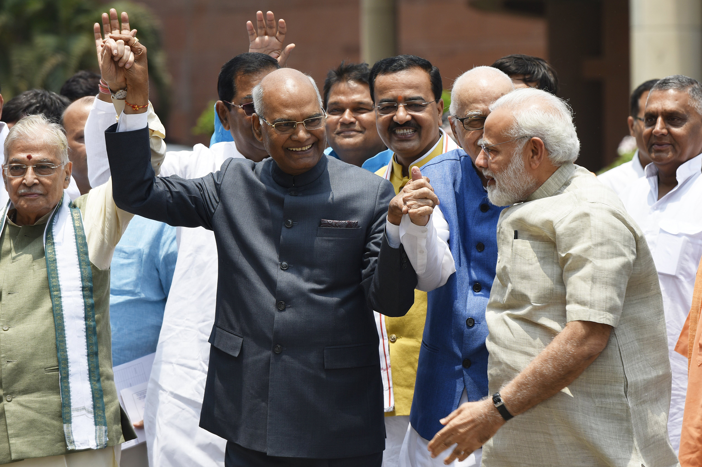 Ram Nath Kovind was due to be named the 14th President of India on July 20