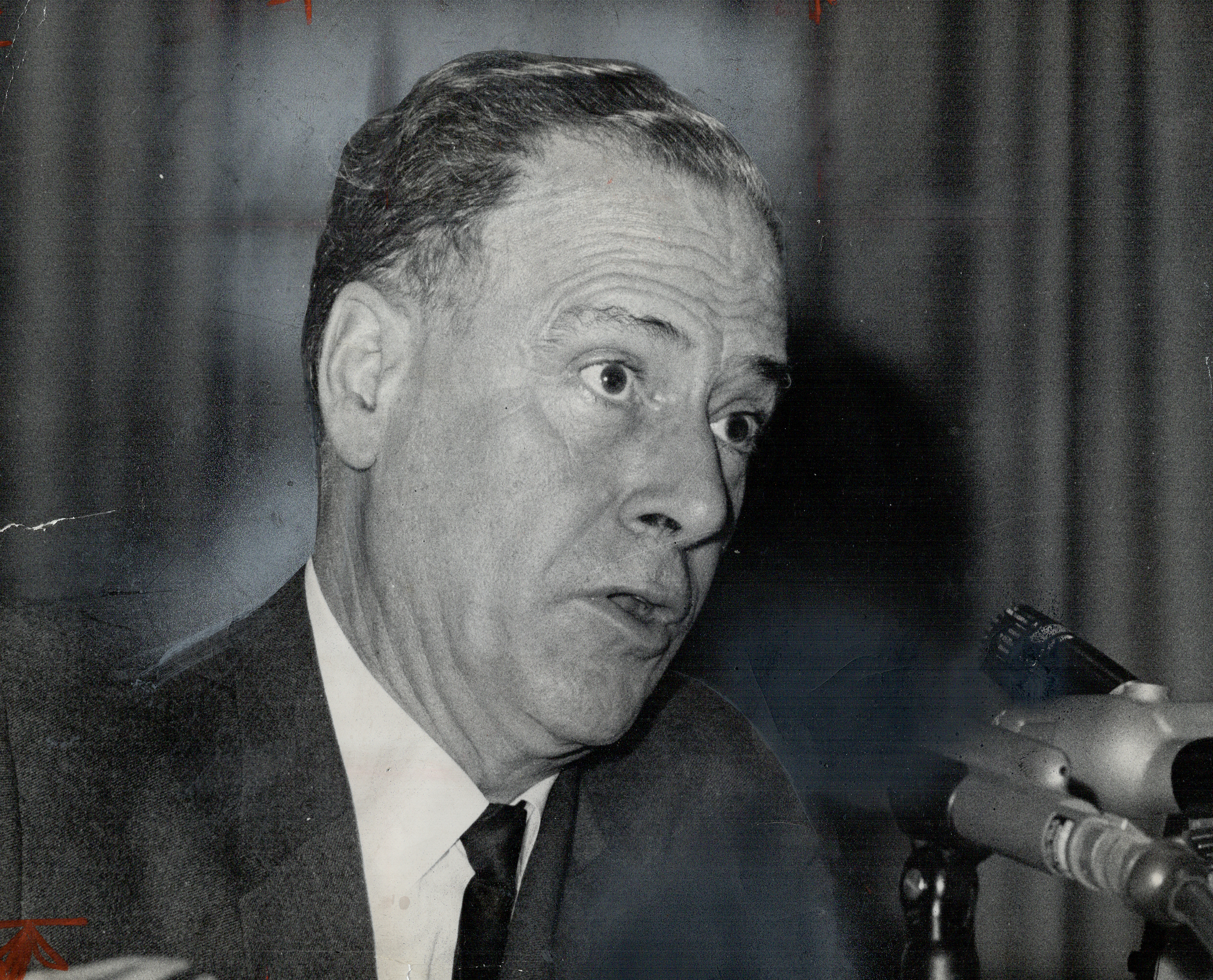 Marshall McLuhan, author and expert on communications, in Toronto on Sept. 28, 1966.