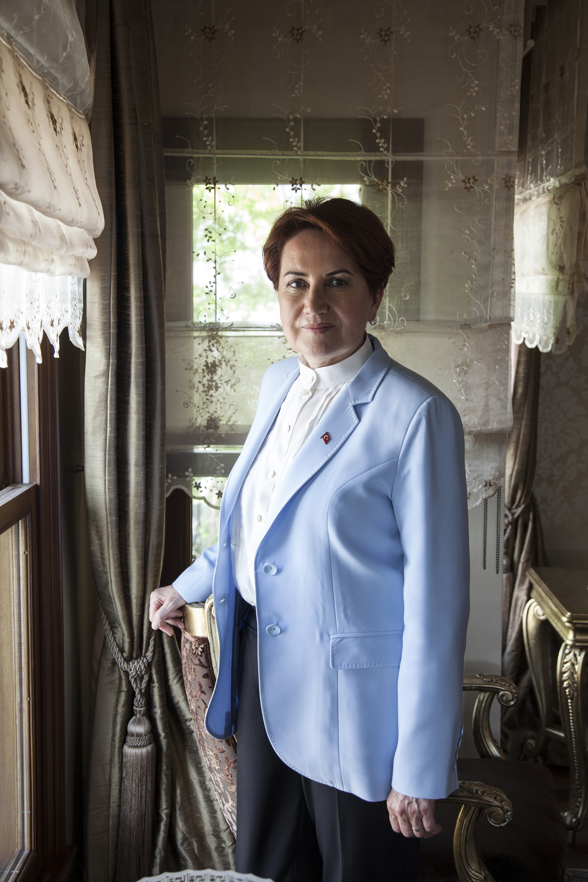 Turkish politician Meral Akşener at her home in Istanbul in May 2017 —Rena Effendi for TIME