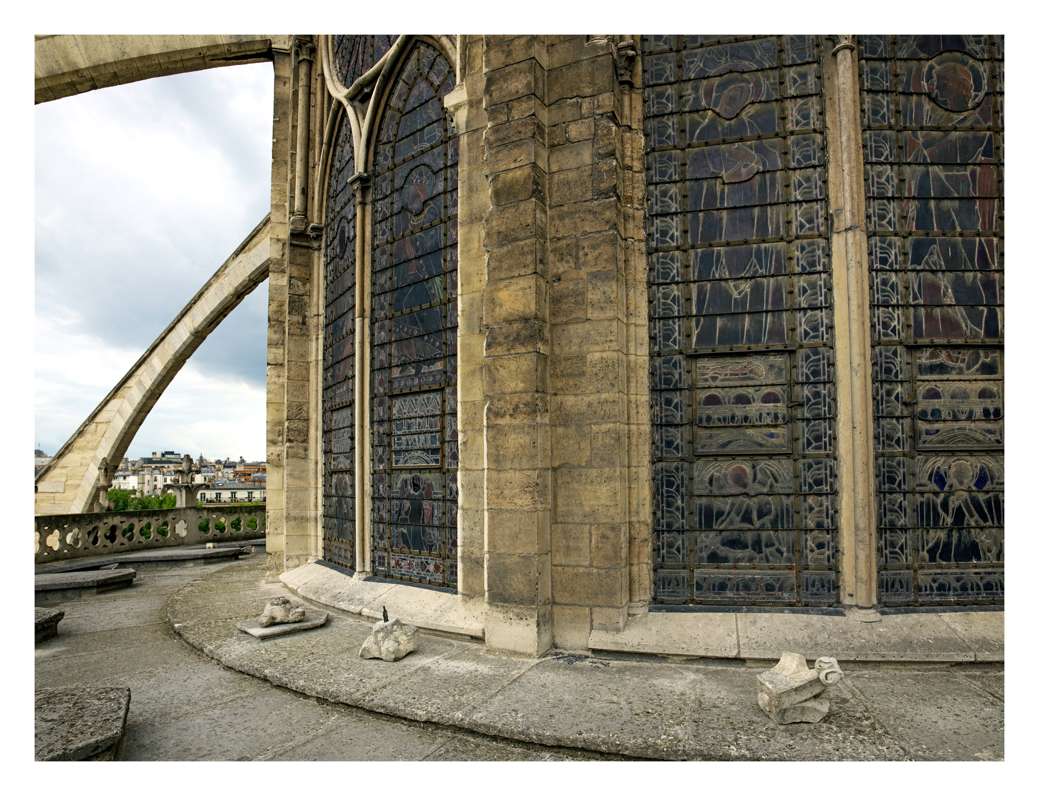 Stonework has fallen from Notre Dame cathedral in Paris. Low-quality stone and cement were used in a restoration in 1844. Nearly 200 years on, that 19th century work is crumbling (though some of the painstaking medieval construction is in better shape).
