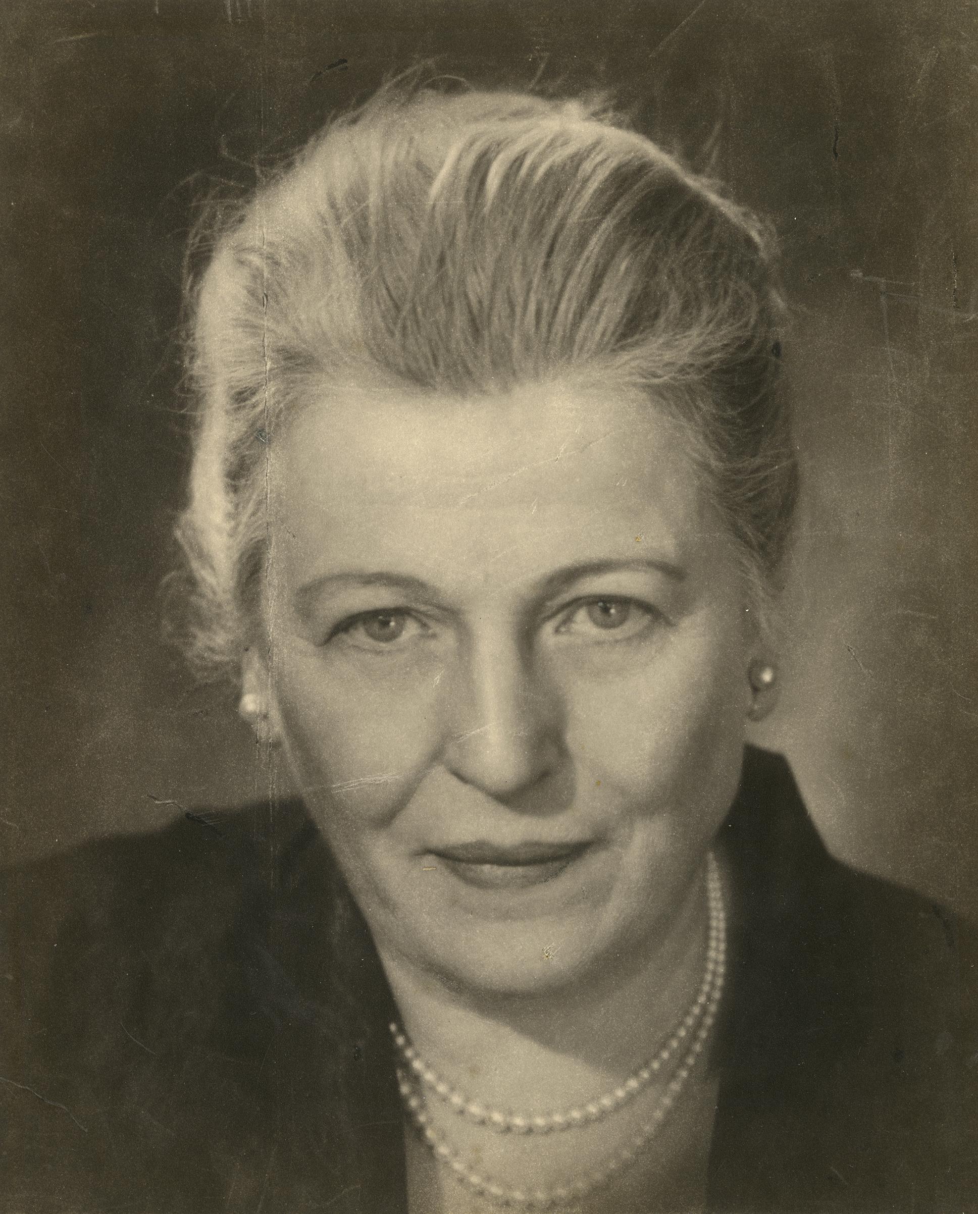 Pearl Buck, 1955. Gelatin silver print. New-York Historical Society, Gift of Kenneth Sherman.