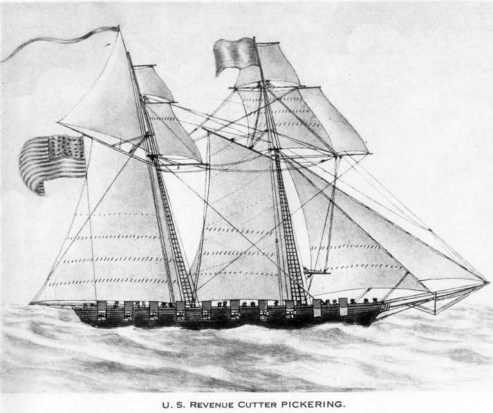 The U.S. revenue cutter  Pickering,  in service from 1798 to 1800' during the Quasi-War with France.