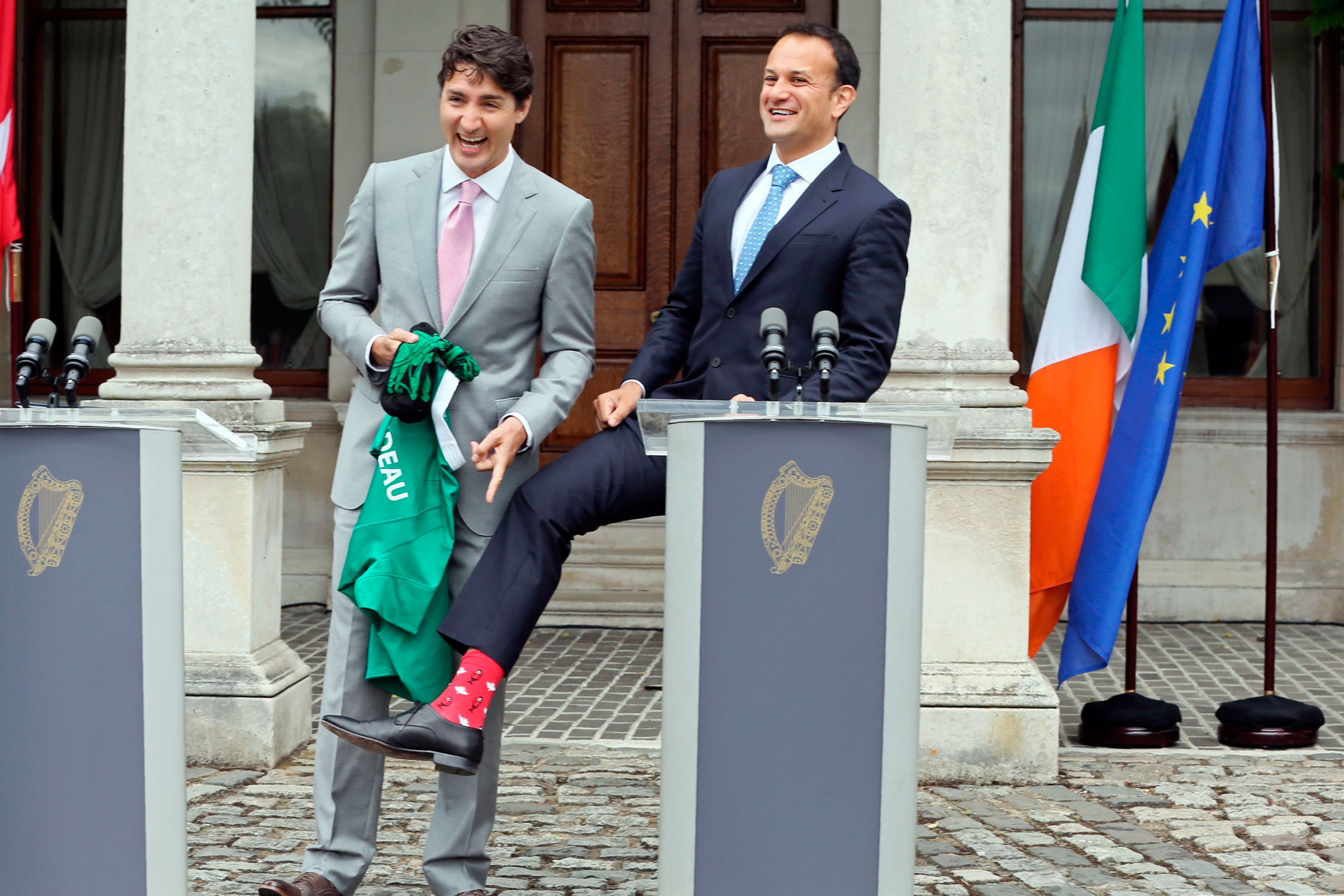 Varadkar, right, hosted Canada's Justin Trudeau just weeks after taking office