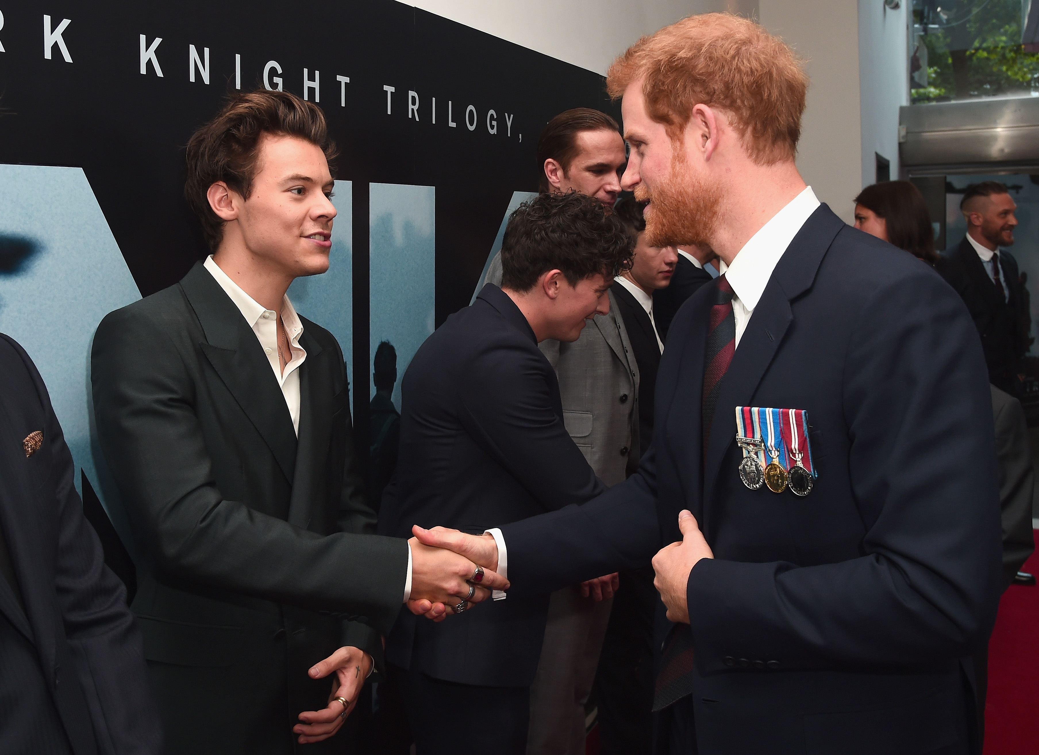LONDON, ENGLAND - JULY 13:  Actor Harry Styles and Prince Harry attend the 'Dunkirk' World Premiere at Odeon Leicester Square on July 13, 2017 in London, England.   (Photo by Eamonn M. McCormack - WPA Pool/Getty Images)