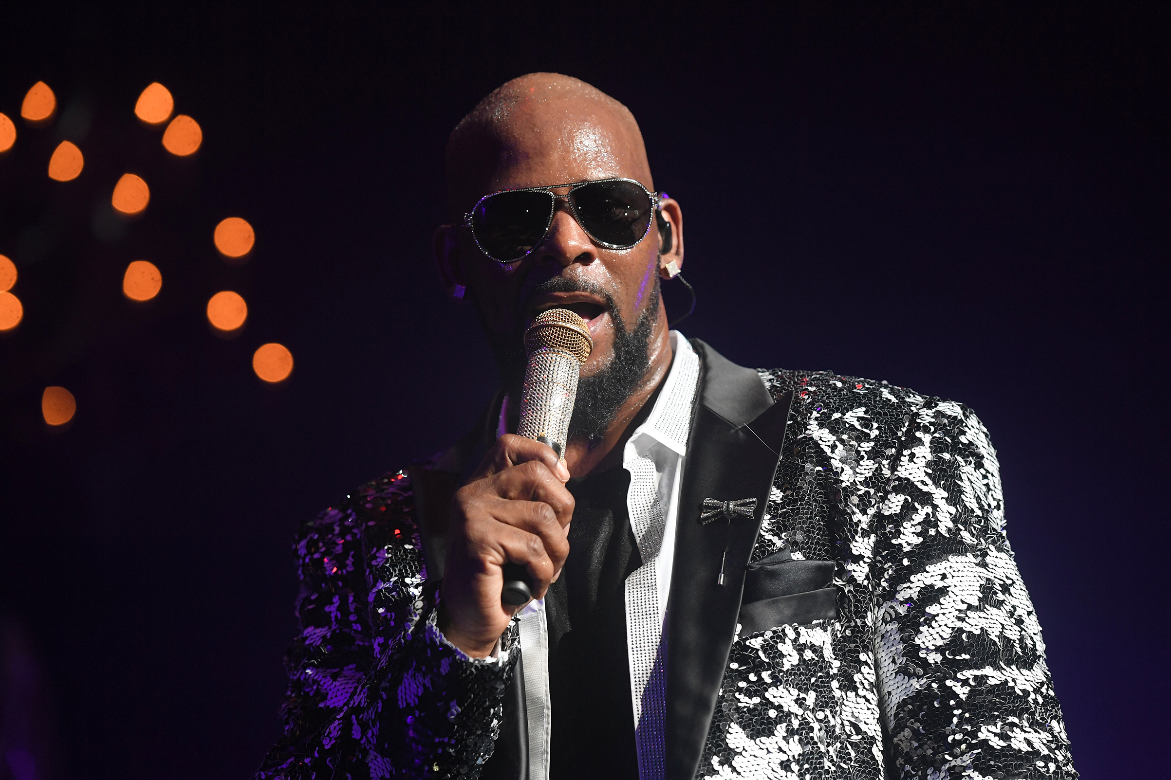 R. Kelly performs during the Holiday Jam at Fox Theater in Atlanta on Dec. 27, 2016.