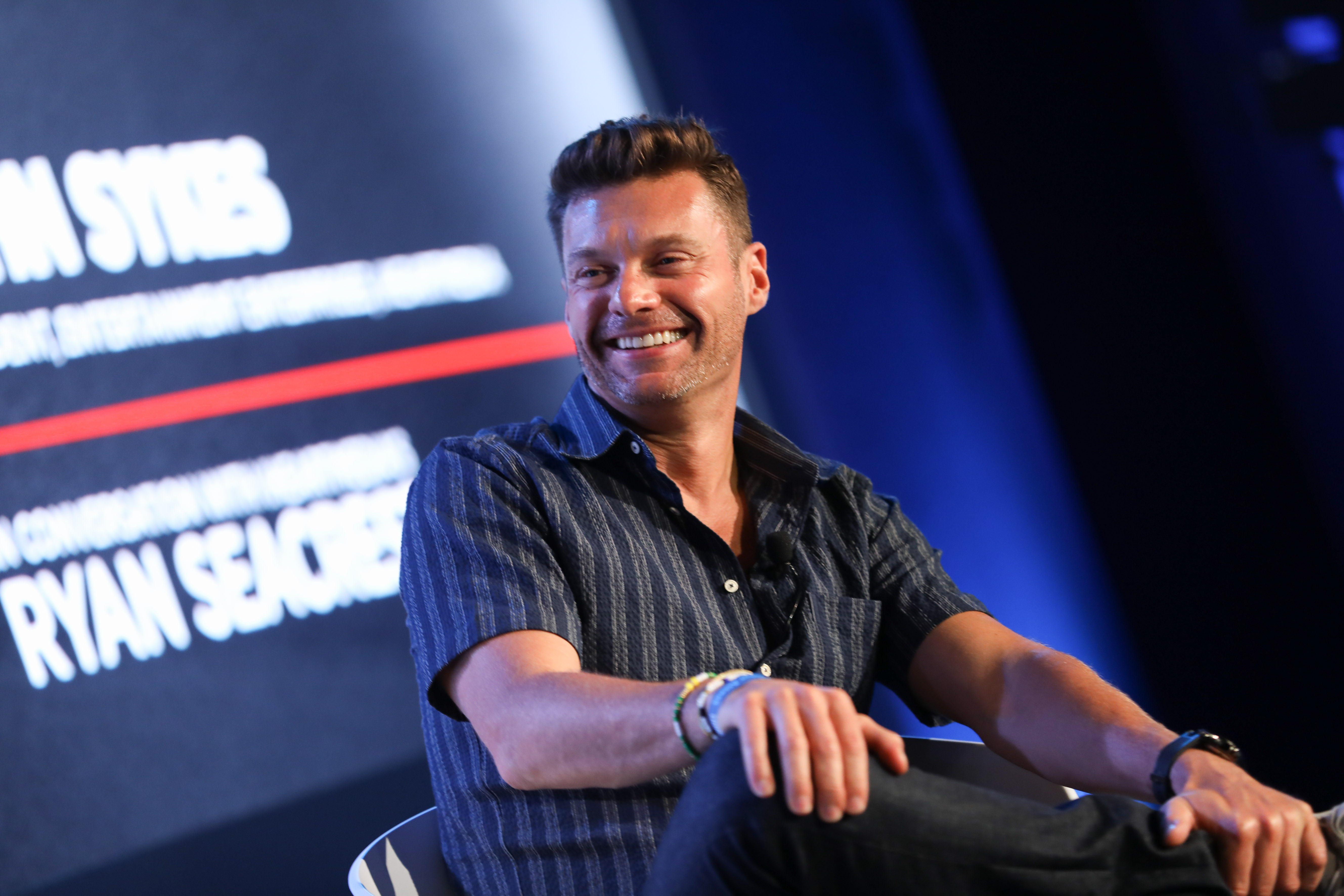 Ryan Seacrest attends an iHeartMedia fireside chat on the Inspiration stage at Lumiere Theater, Palais 2 during the Cannes Lions Festival on June 21, 2017 in Cannes, France.