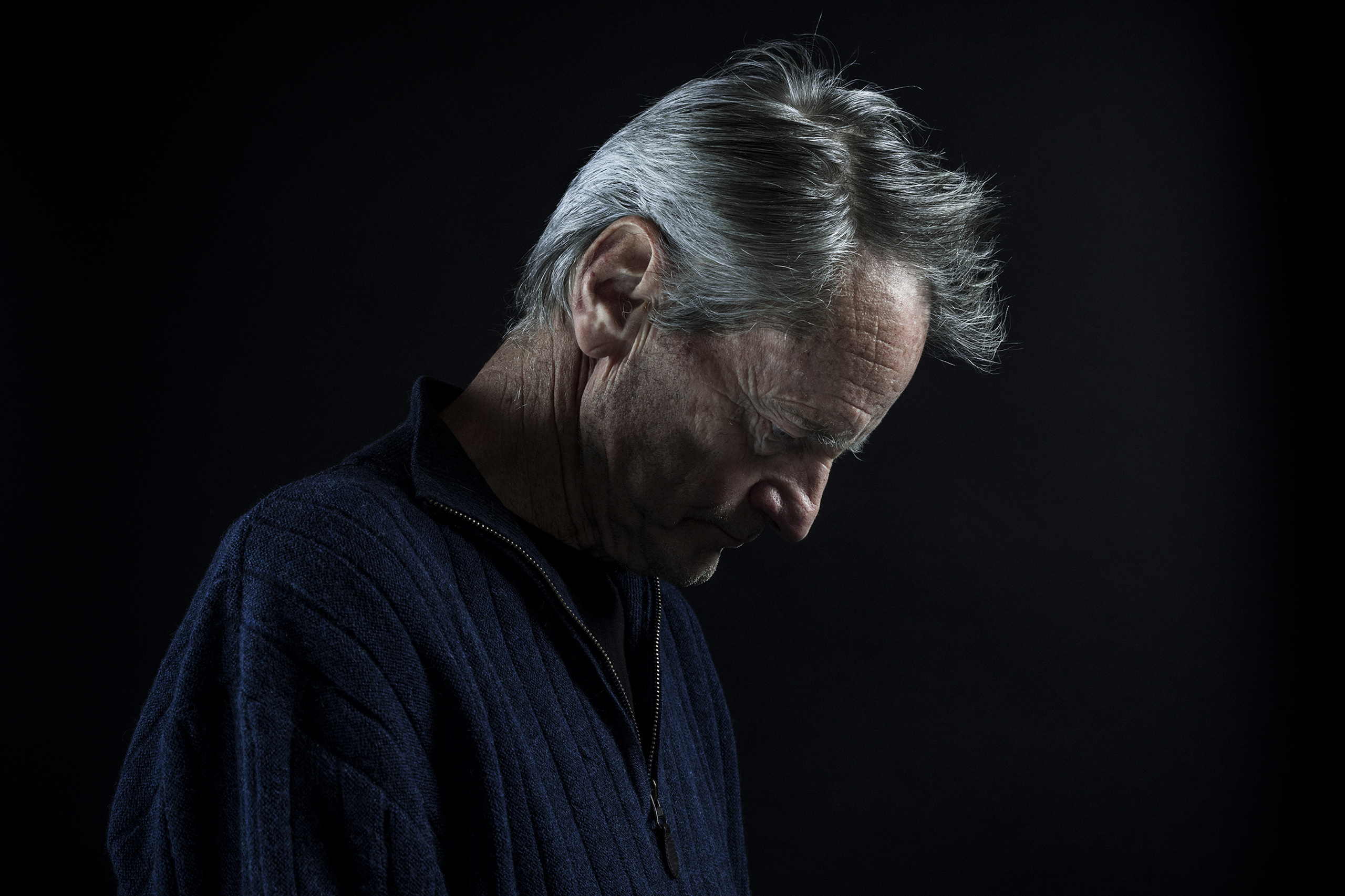 Playwright and actor Sam Shepard on a day of rehearsal for his play  Buried Child,  which won the Pulitzer Prize in 1979, at a studio in New York, Jan. 22, 2016.