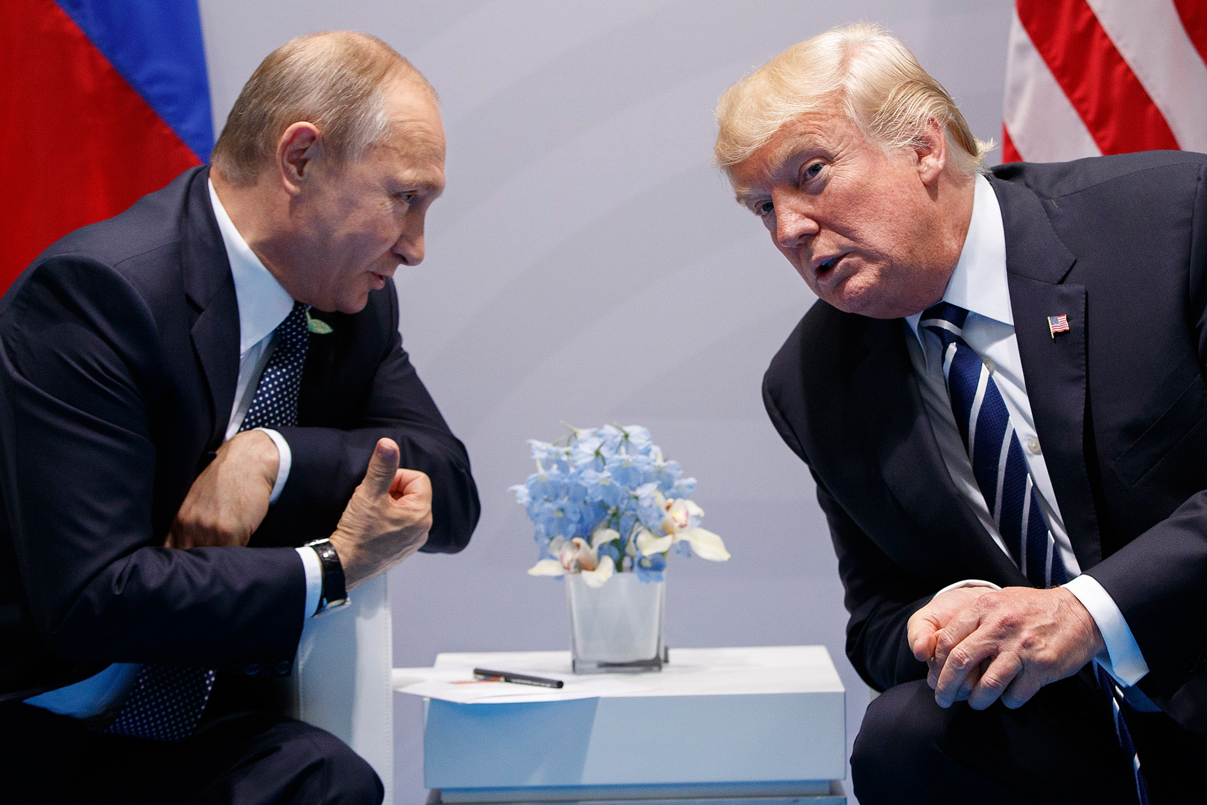 President Trump met with Putin not once but twice at the G-20 summit in Hamburg in July. The undisclosed second conversation took place during a dinner and without any other U.S. officials present.