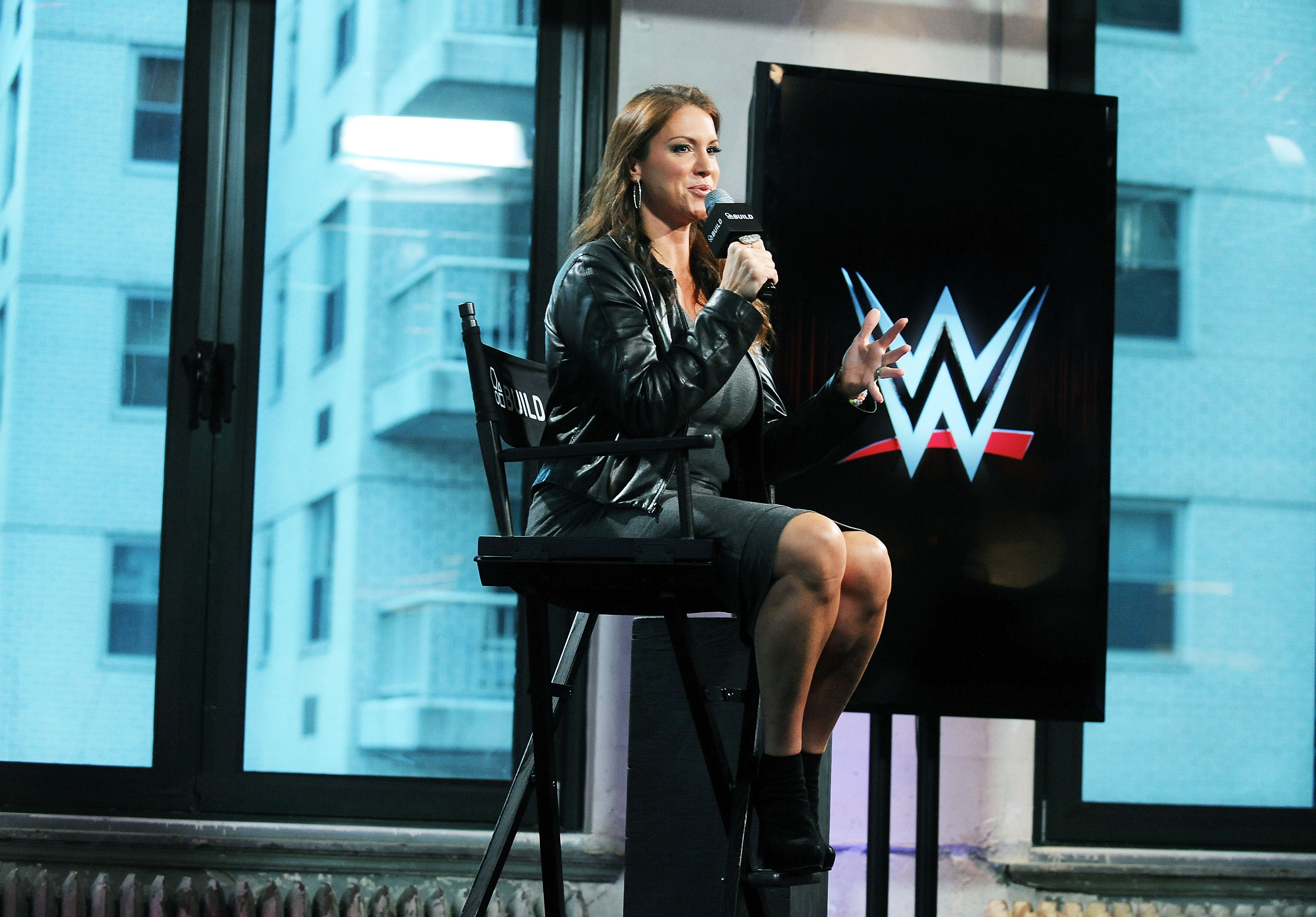 TV personality and Chief Brand Officer of WWE Stephanie McMahon attends AOL BUILD Presents Stephanie McMahon at AOL Studios In New York on October 16, 2015 in New York City.