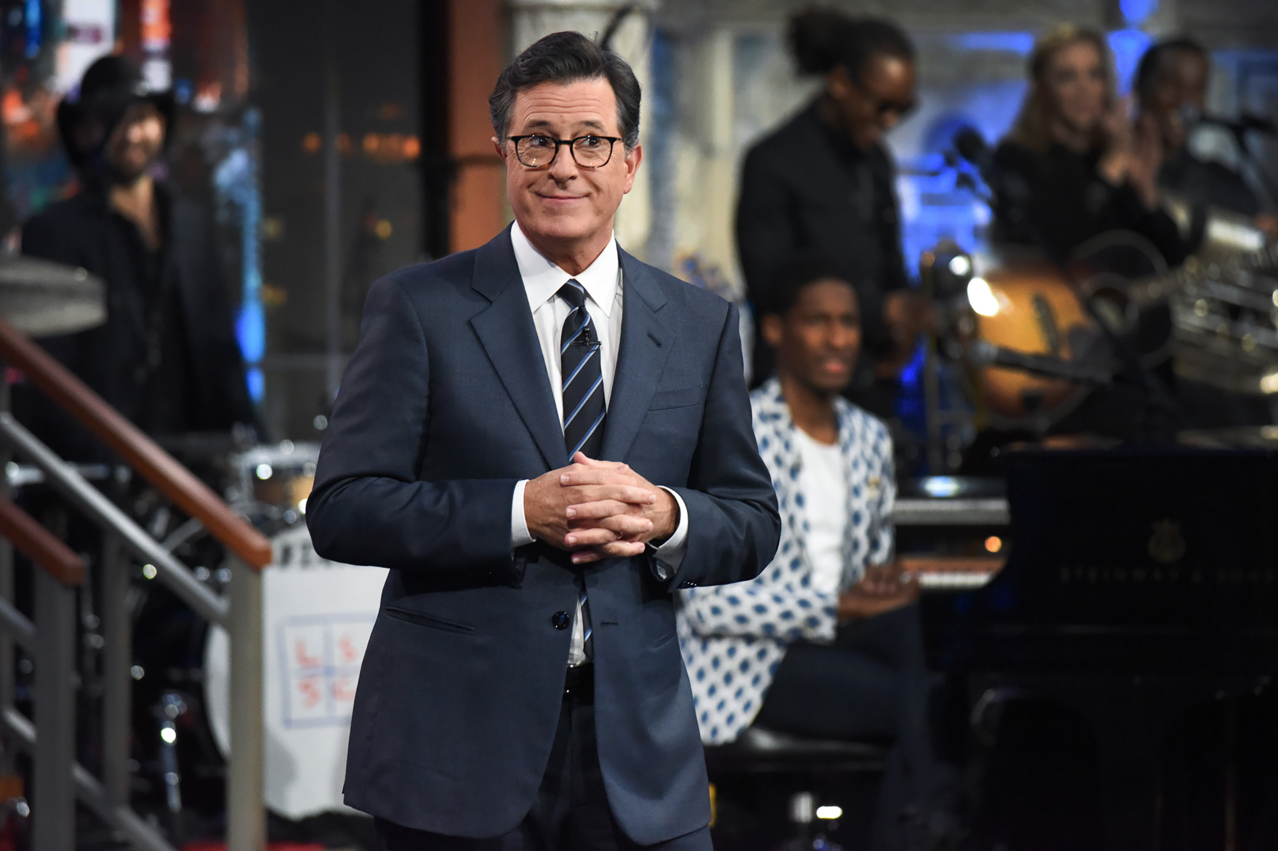 Stephen Colbert on The Late Show with Stephen Colbert during the July 20, 2017 show.