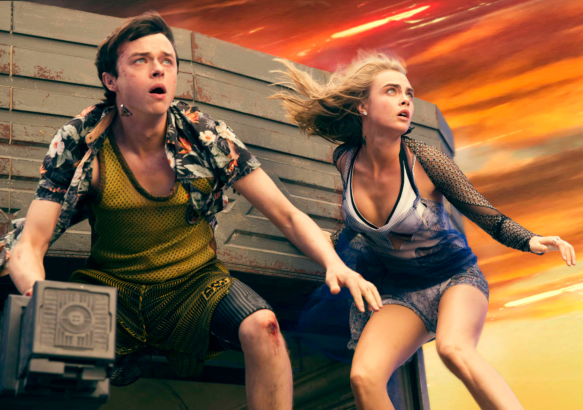 Lost in space: DeHaan and Delevingne, intergalactic