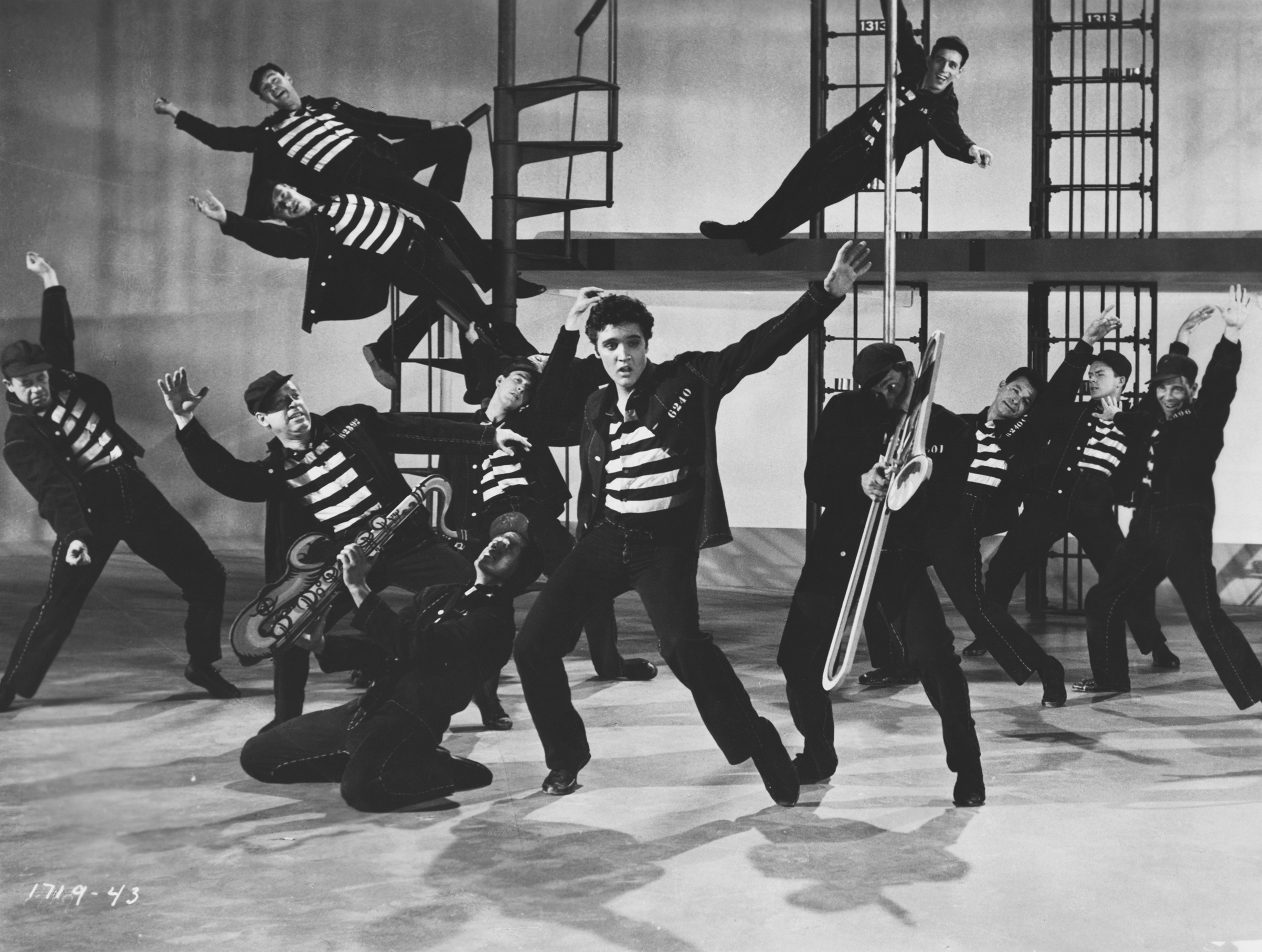 Elvis in the movie  Jailhouse Rock                                1957, Metro-Goldwyn-Mayer.