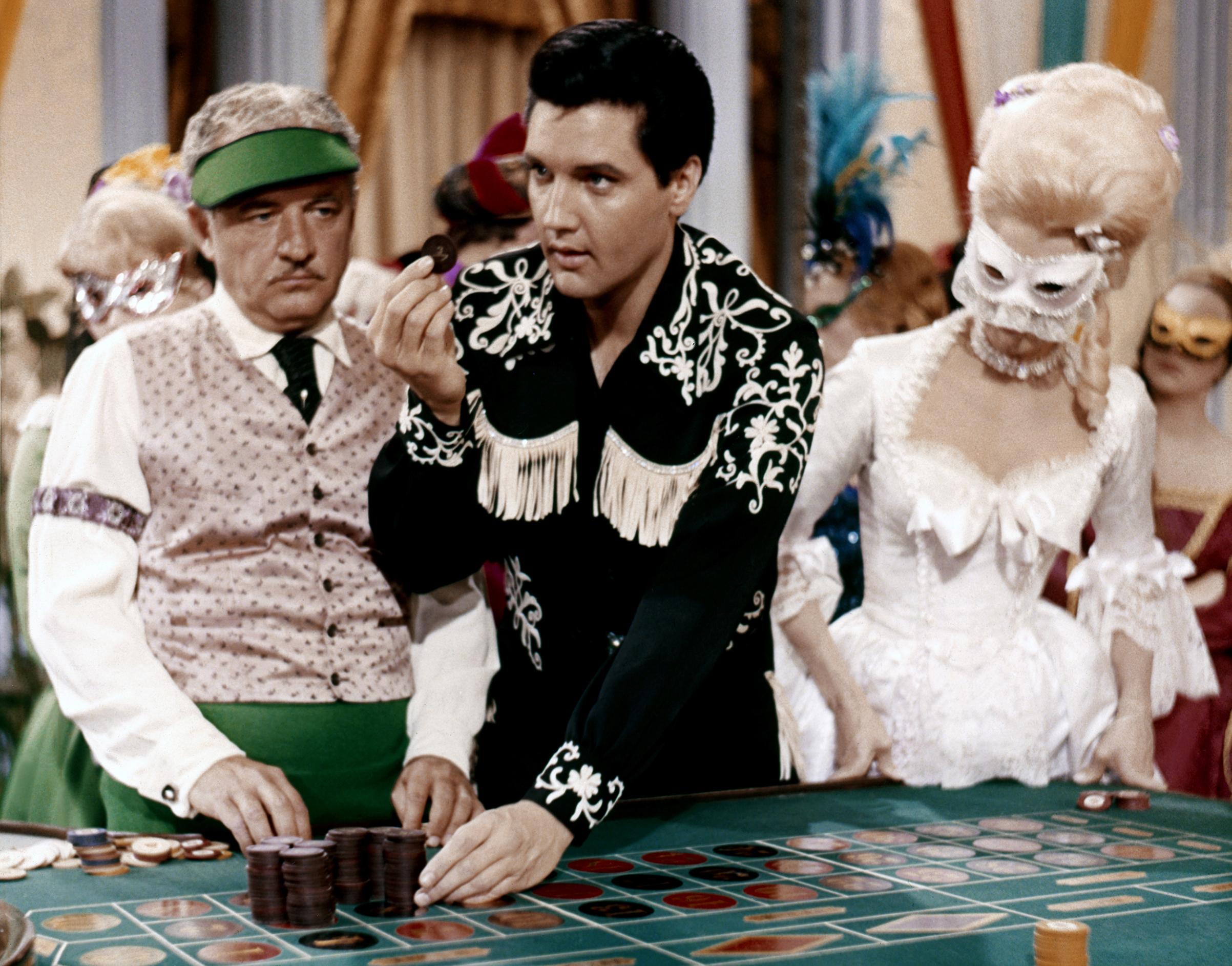 Frankie and Johnny :                                1966, Elvis in a casino scene.