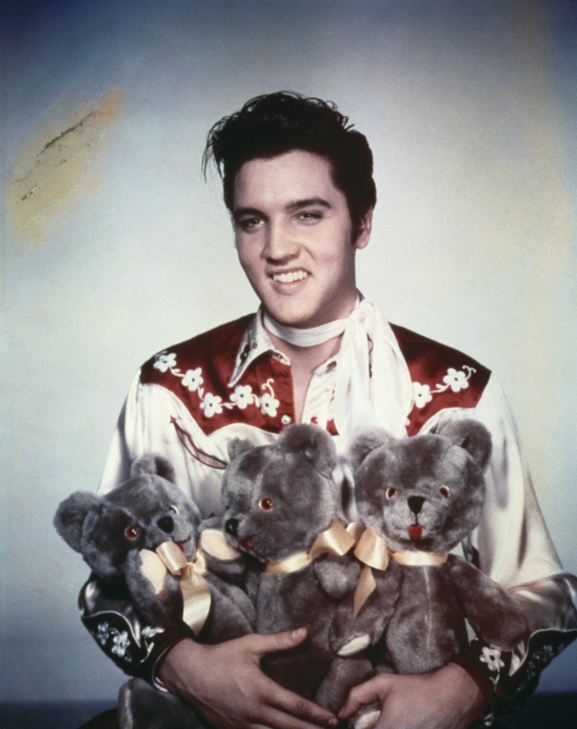 Loving You : 1957, Elvis poses for a portrait to publicize his movie.