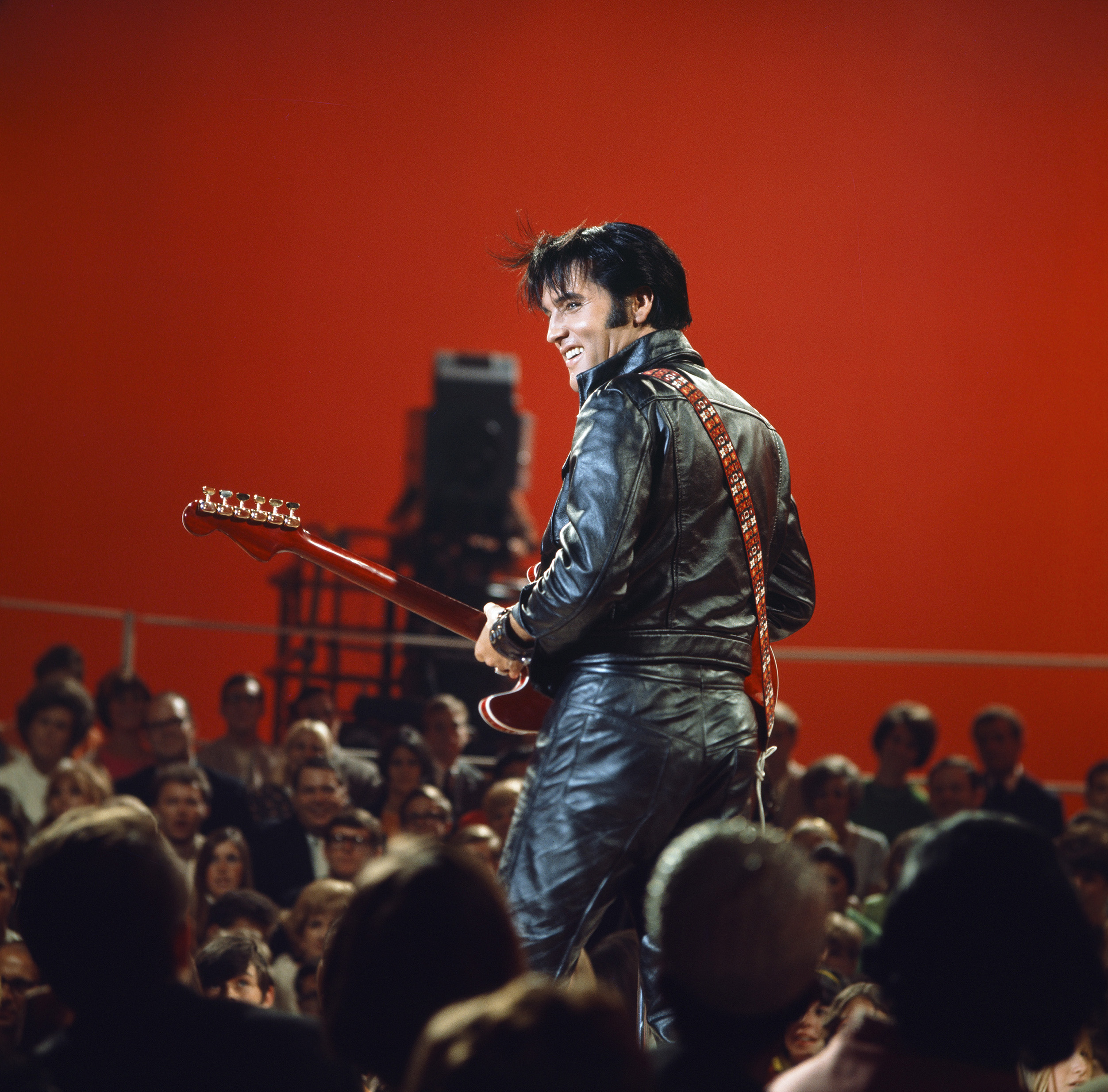 Elvis Presley during his '68 Comeback Special on NBC.