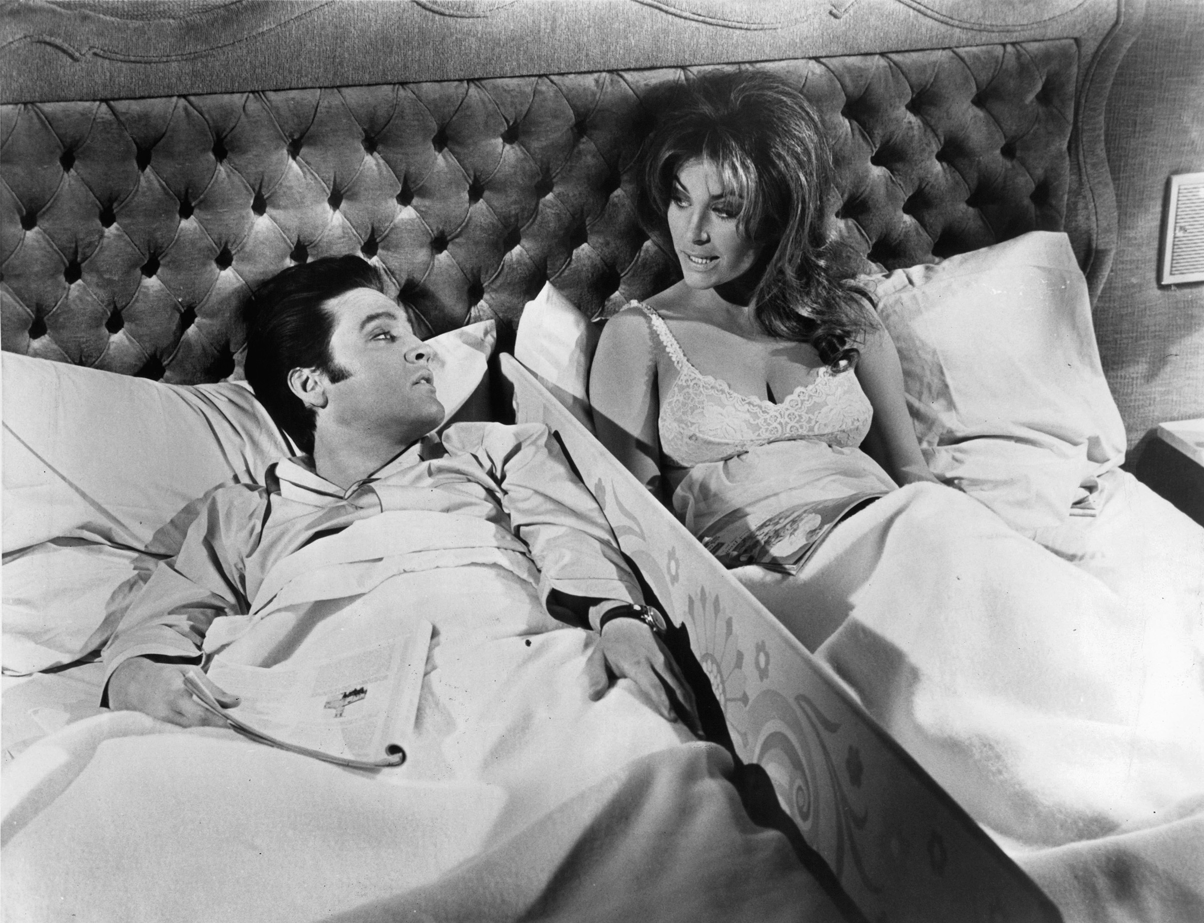 Live a Little, Love a Little : 1968, Elvis in bedroom scene with Michele Carey.