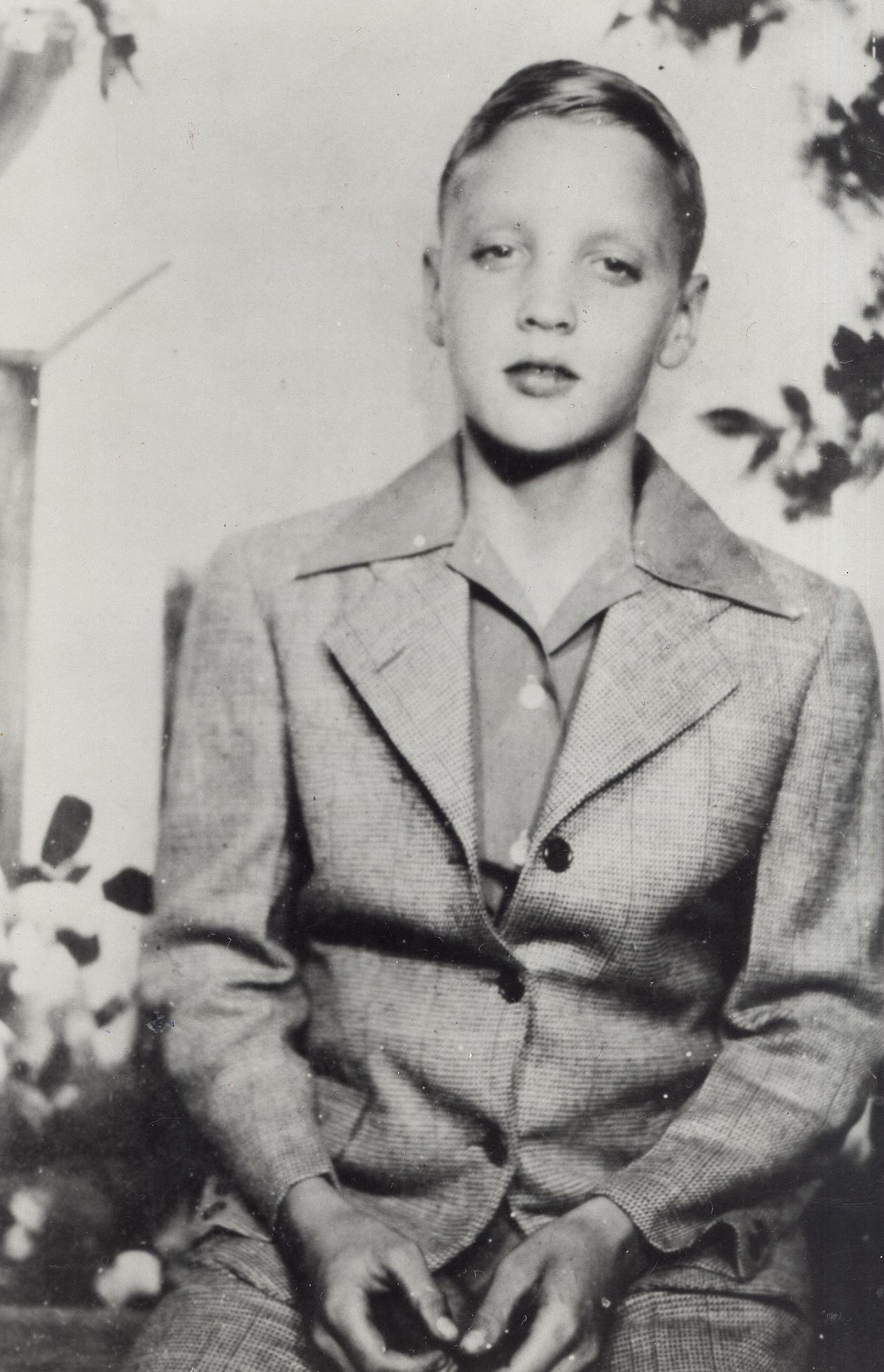 Elvis at approximately 12 years old.